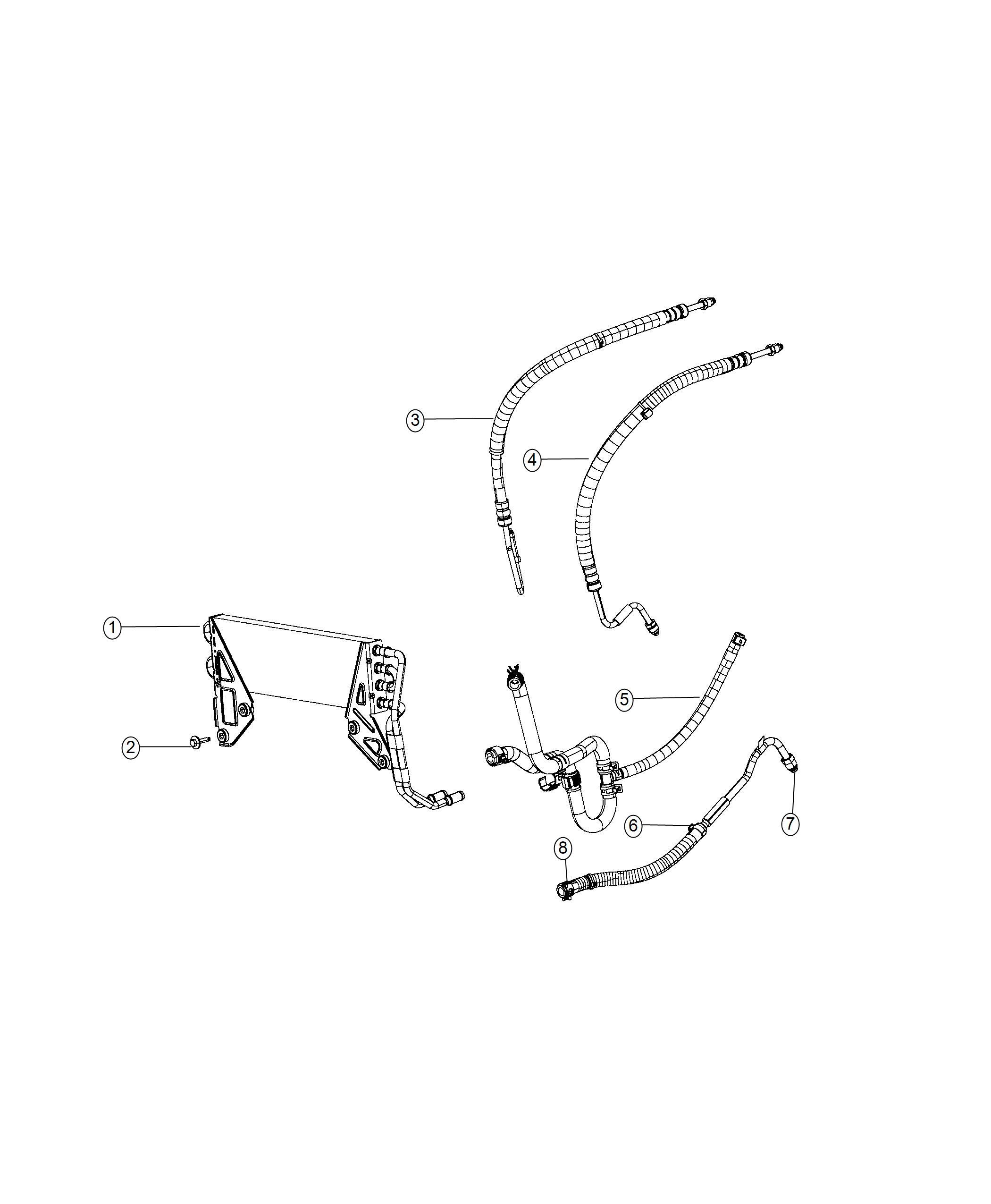 Ram Cooler Power Steering Hoses Module End