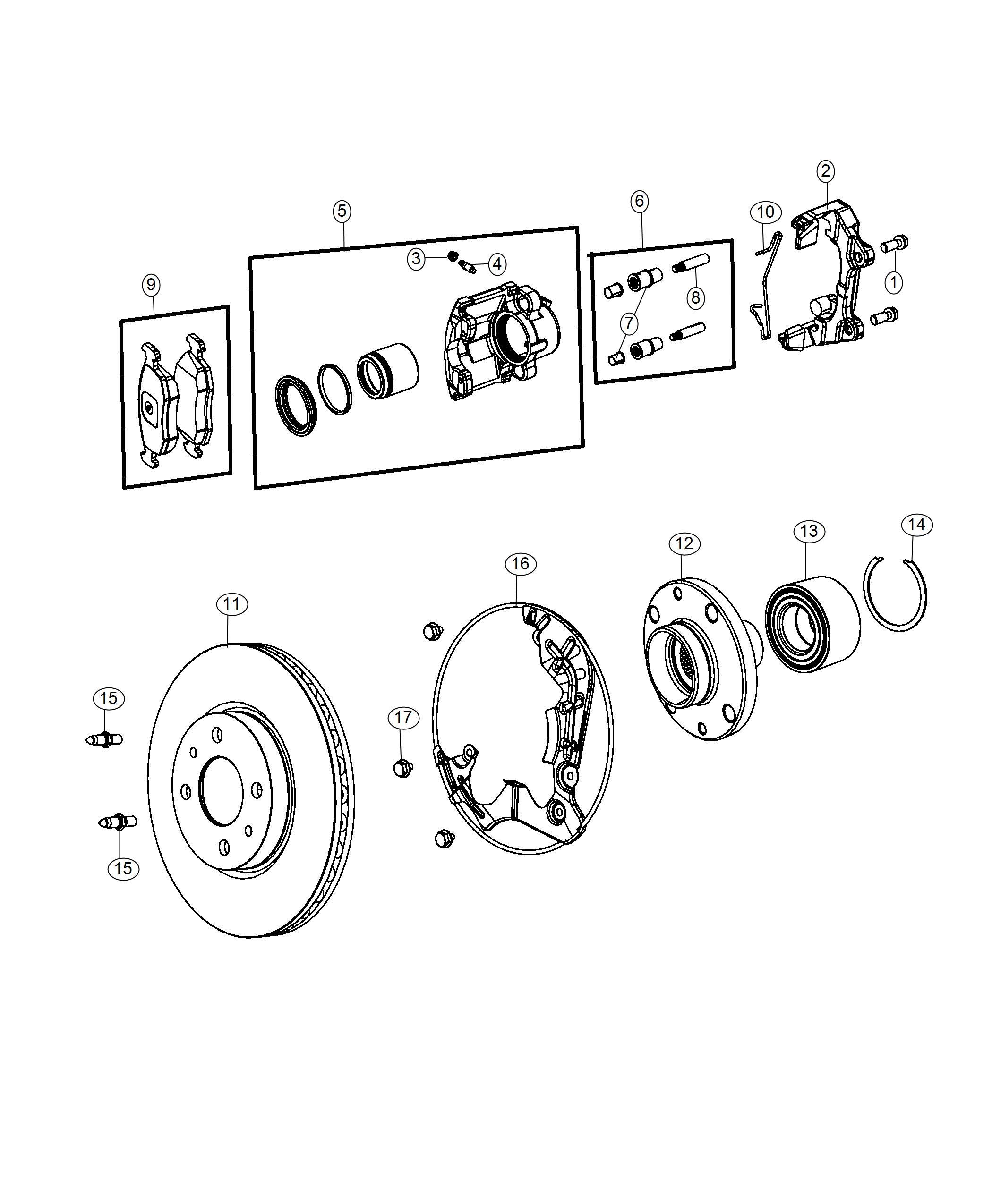 Ram PROMASTER CITY WAGON SLT Pin. Disc brake caliper