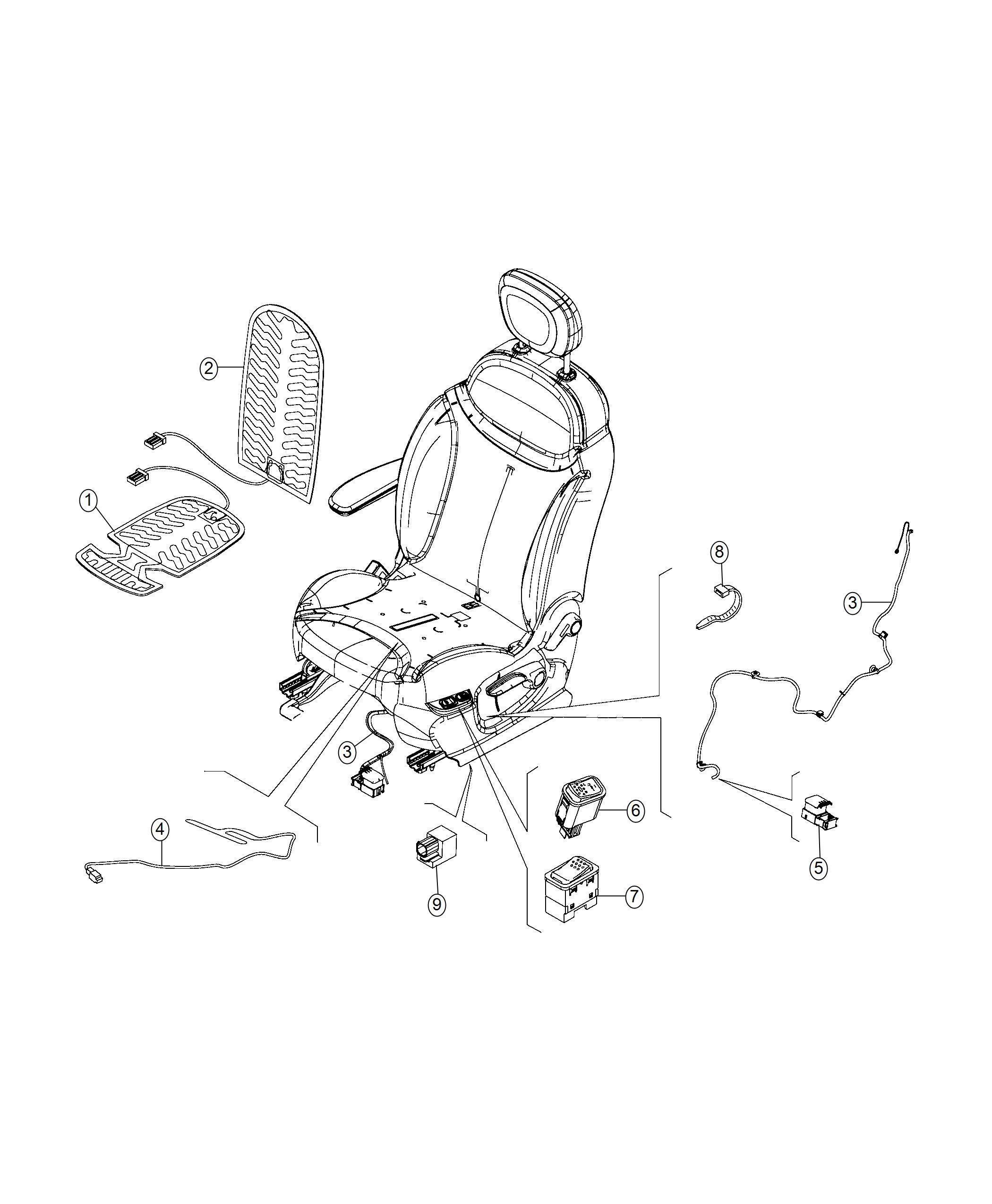 Fiat 500l Wiring Seat Right