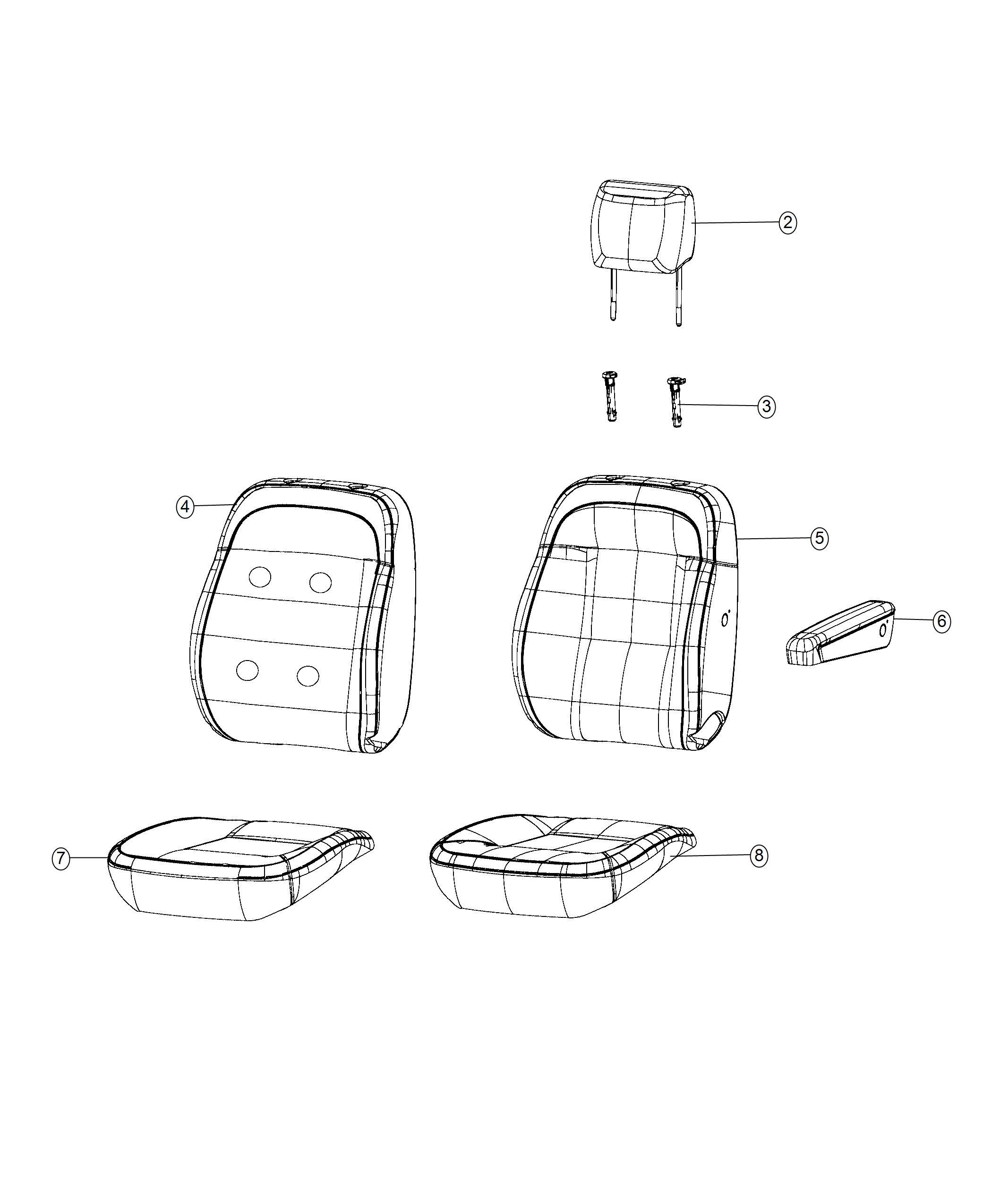 Ram Promaster Foam Front Seat Back Trim Cloth Buckets