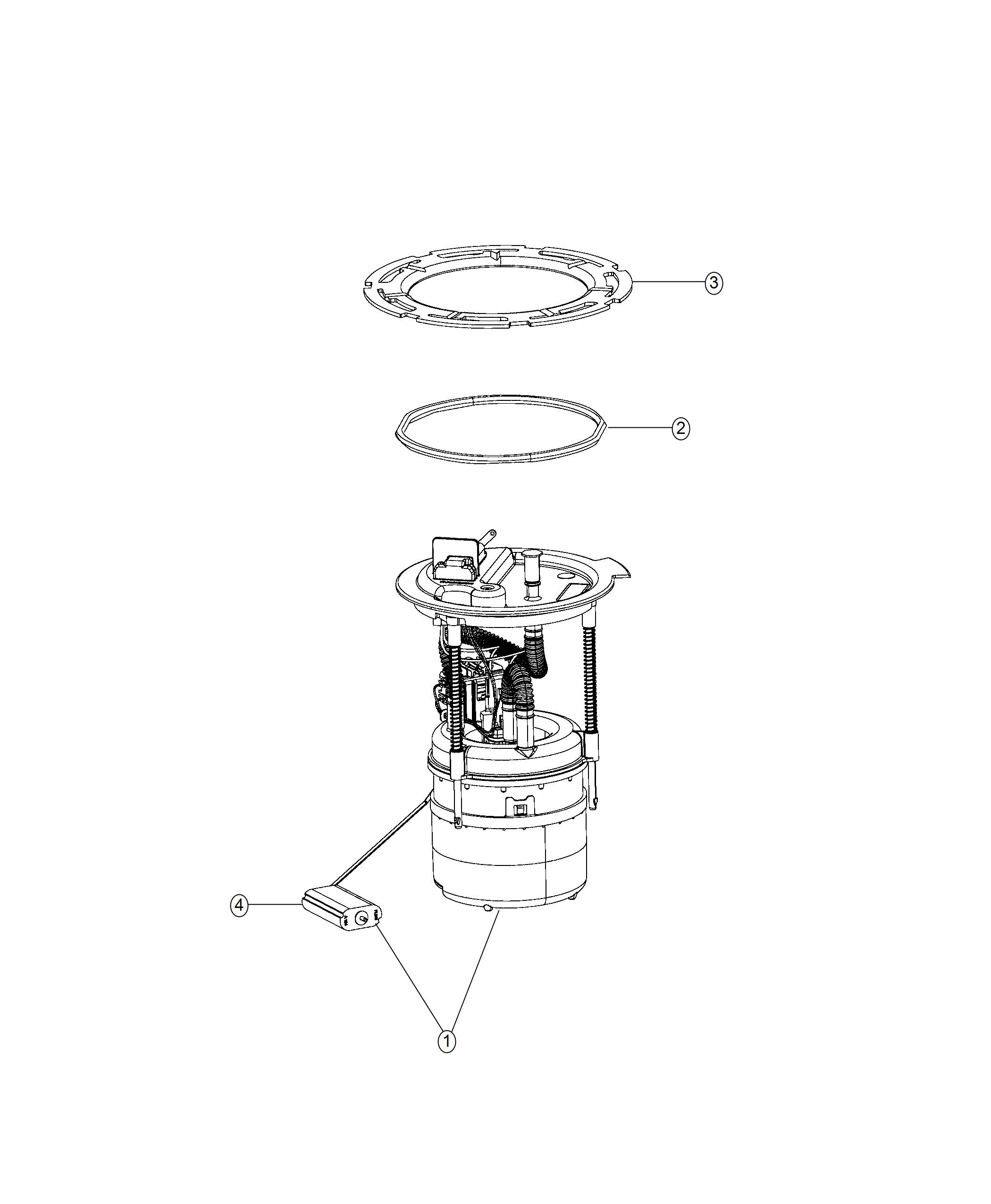 Jeep Compass Module kit. Fuel pump/level unit. [13.8