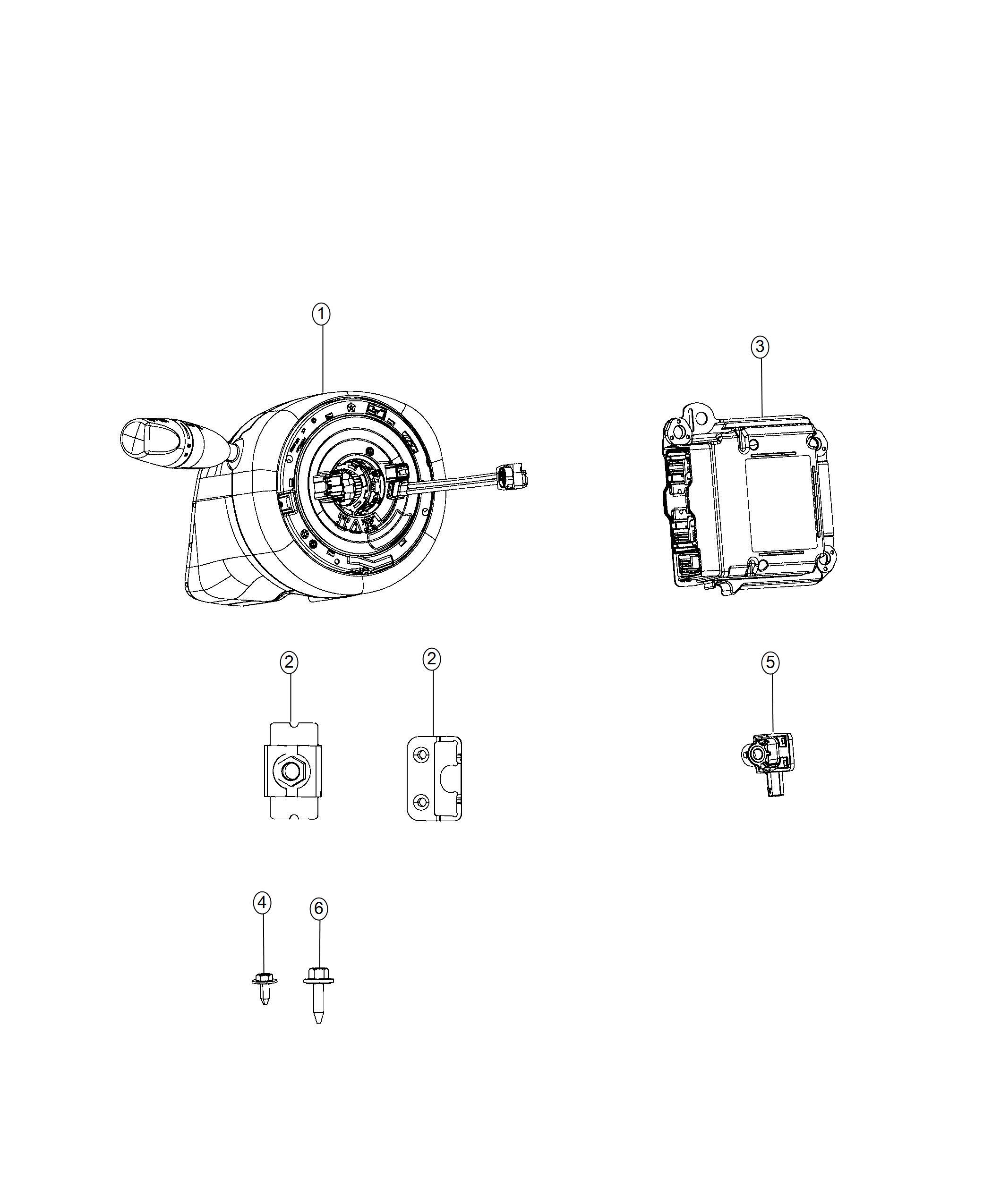 2017 Chrysler 300 Module. Occupant restraint. Export. Frt