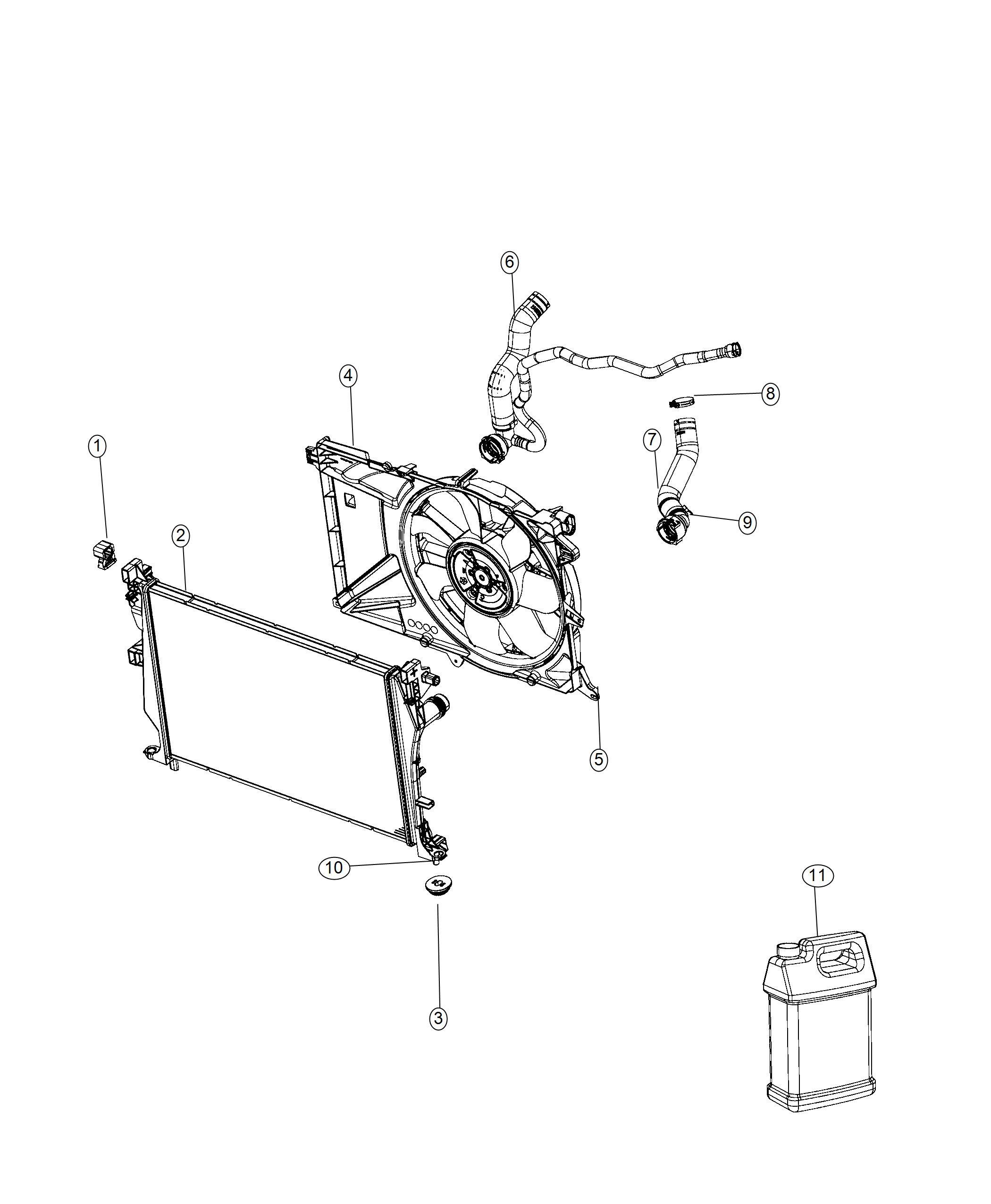 Jeep Renegade Fan module. Radiator cooling. Related