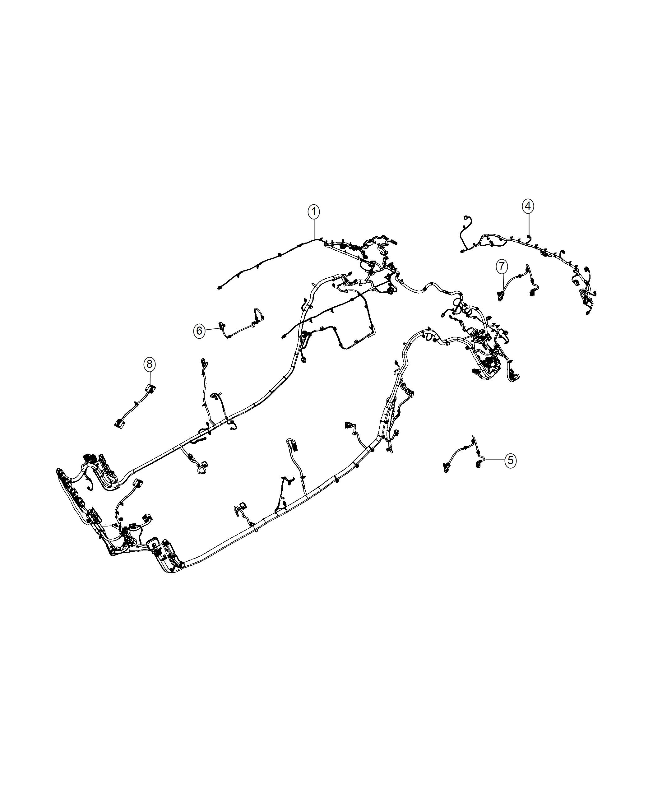 2017 Jeep Renegade Wiring. Trailer tow. Export. [gooseneck