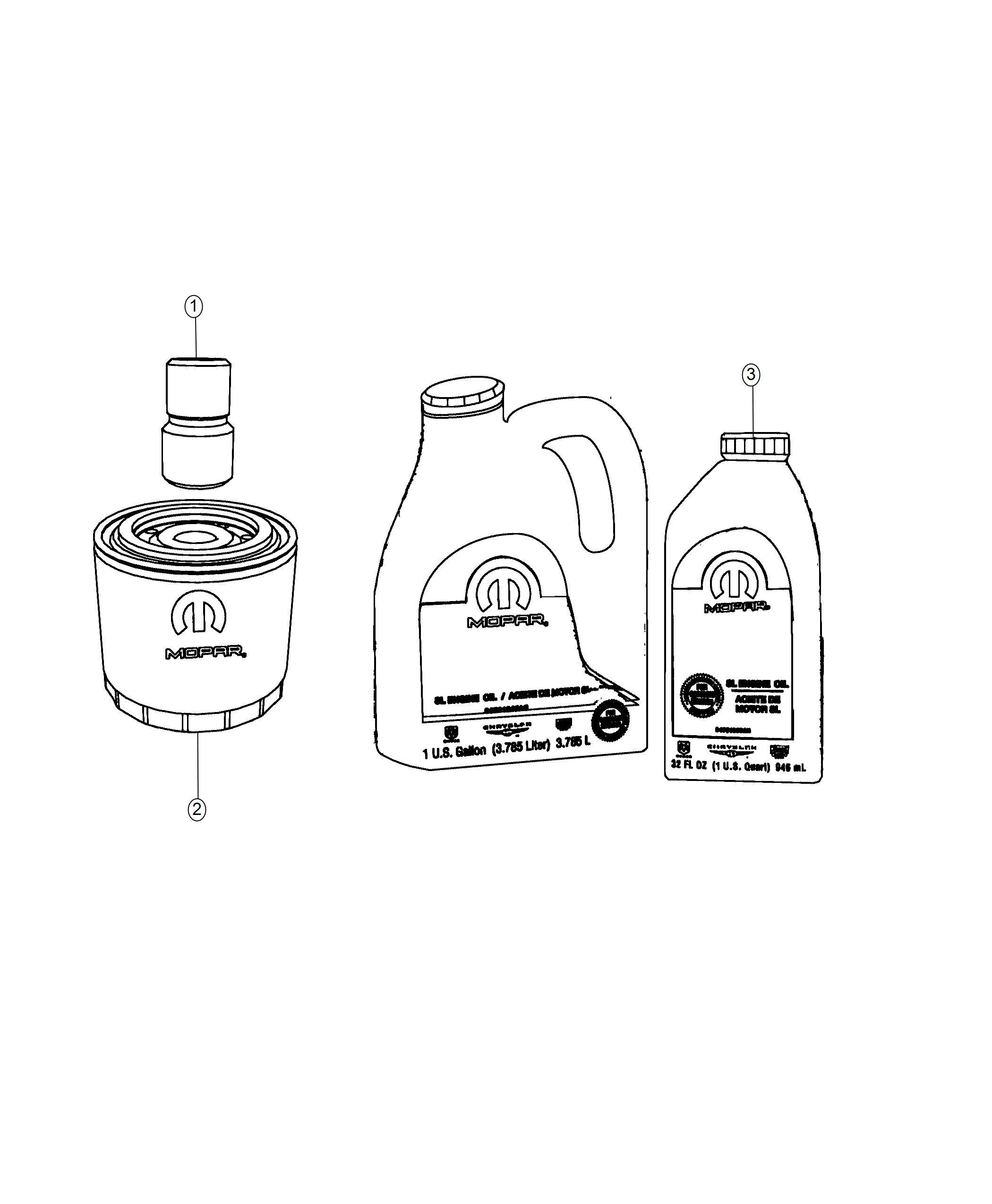 Dodge Durango Engine oil. 0w40. Quart. Export. Filter