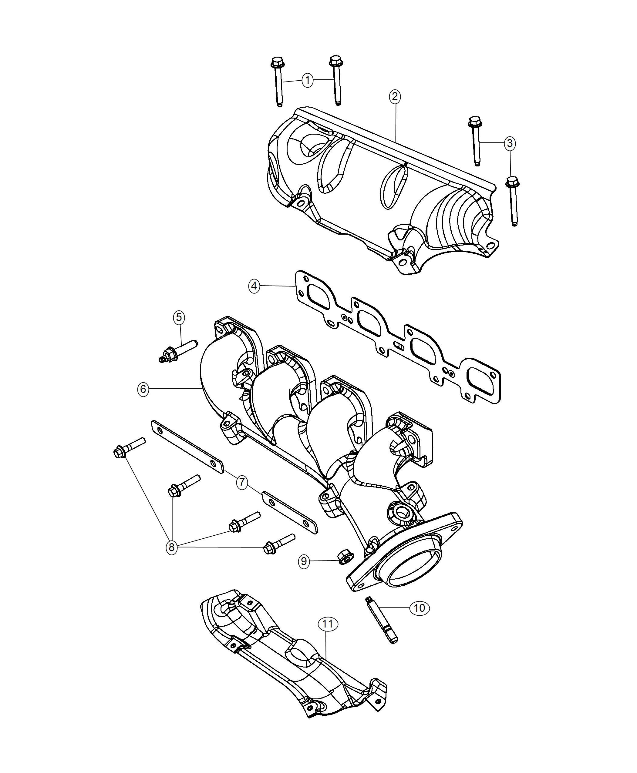 Dodge Durango Manifold Exhaust Right Side Shields Mds
