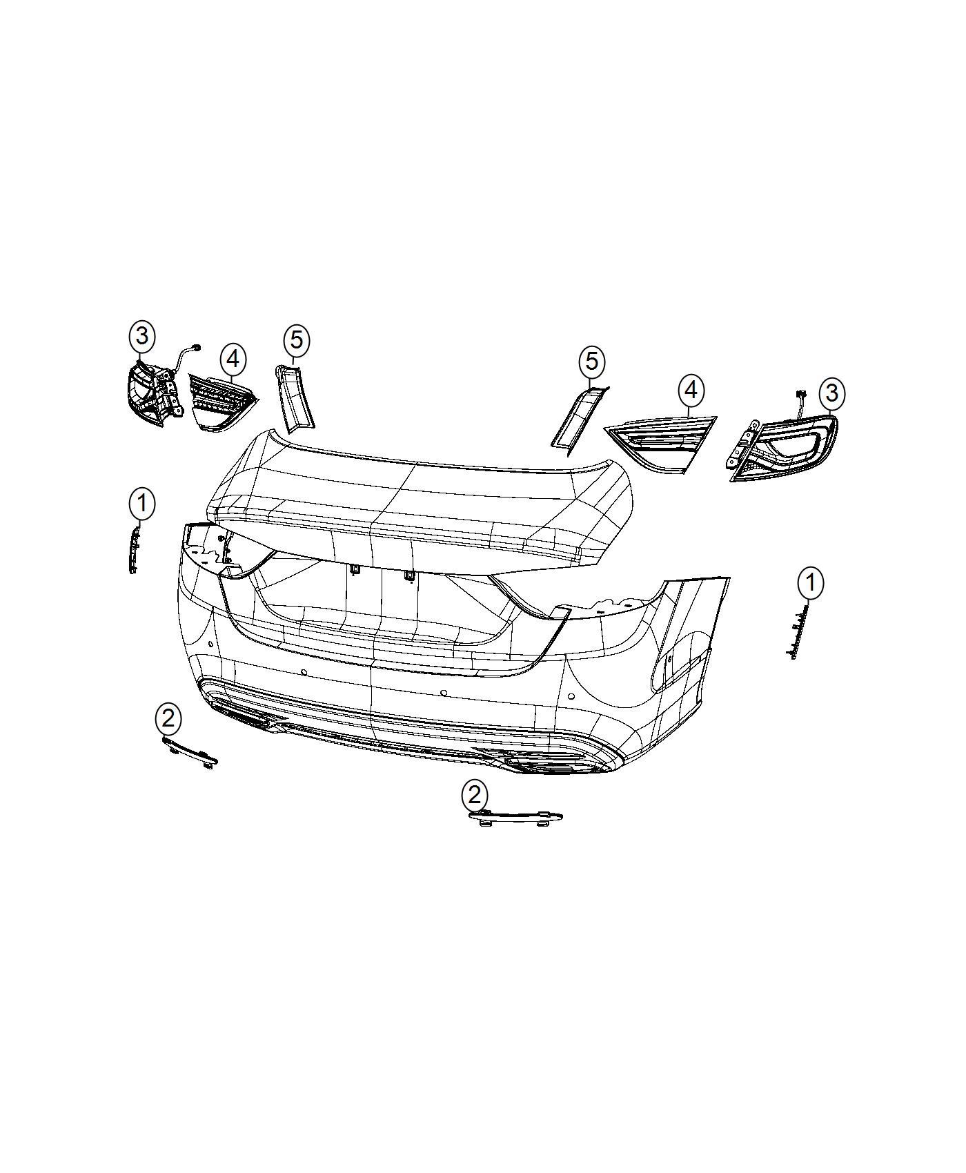 Chrysler 200 Bezel, reflector. Fascia. Right. [front