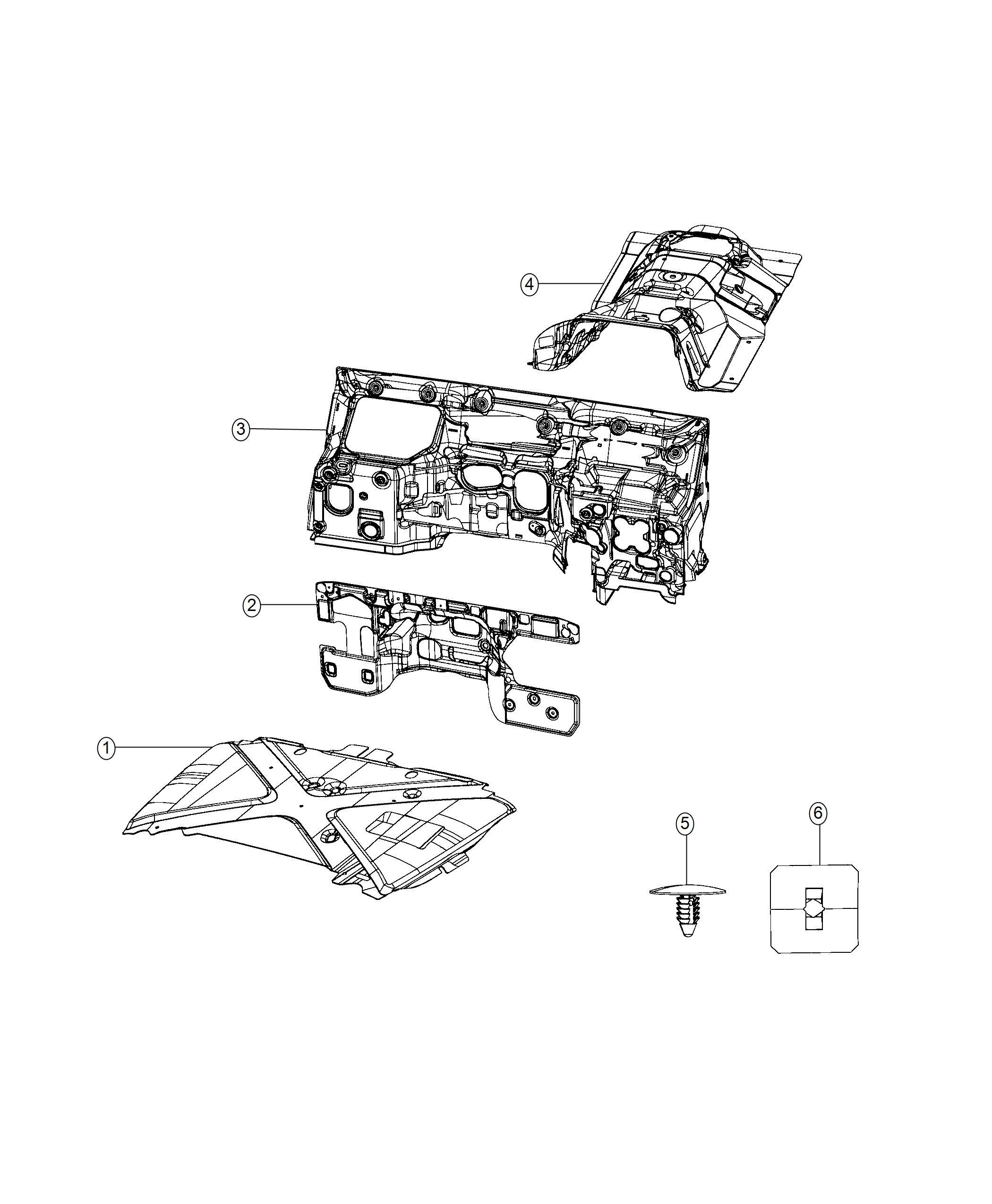 Jeep Wrangler Silencer Dash Panel Turbo Engine Dohc