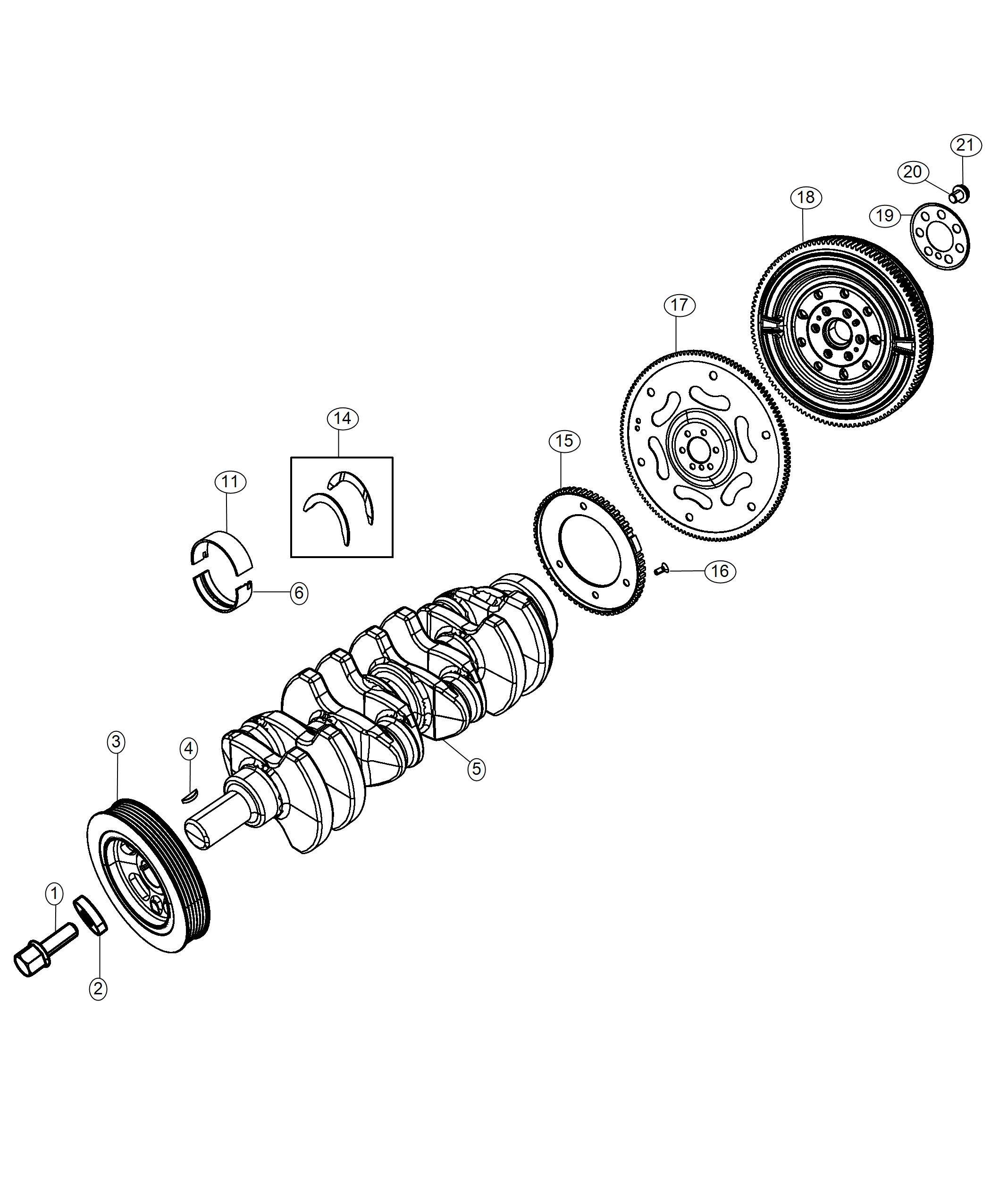Jeep Compass Flywheel. [6-speed c635 manual transmission