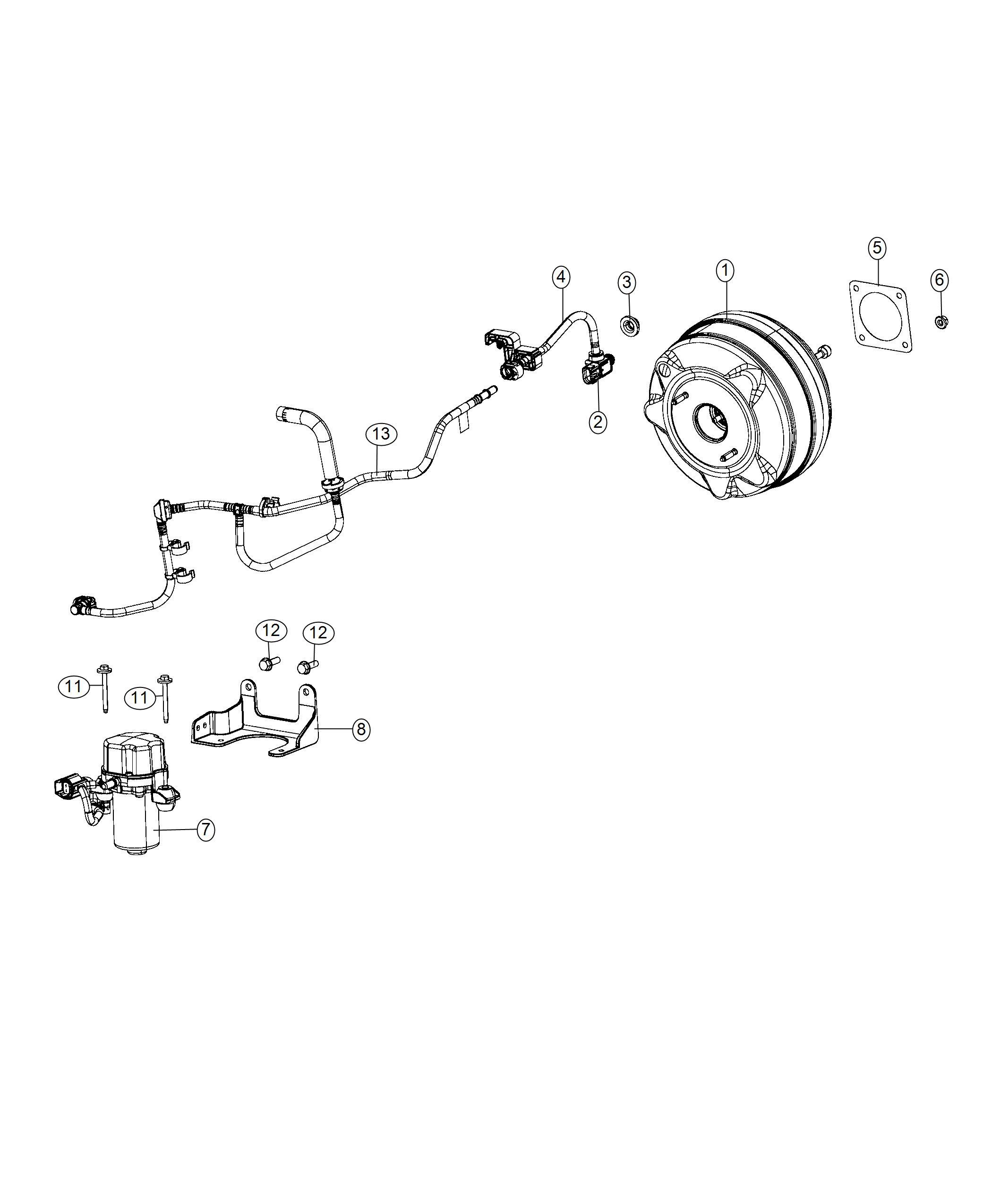 Jeep Wrangler Pump Vacuum Primary Vacuum Secondary