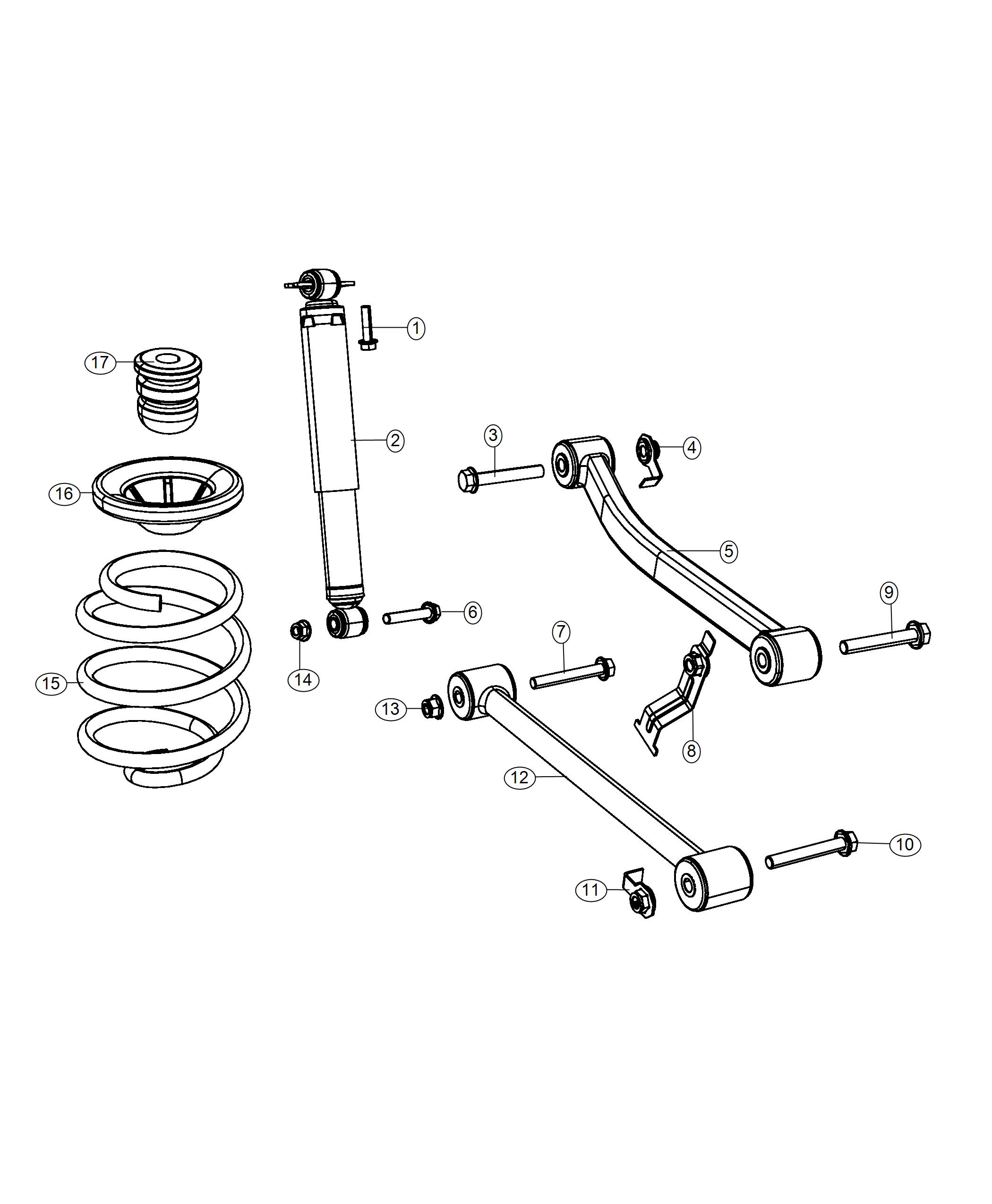 Jeep Wrangler Spring Rear Coil Left Right Spring
