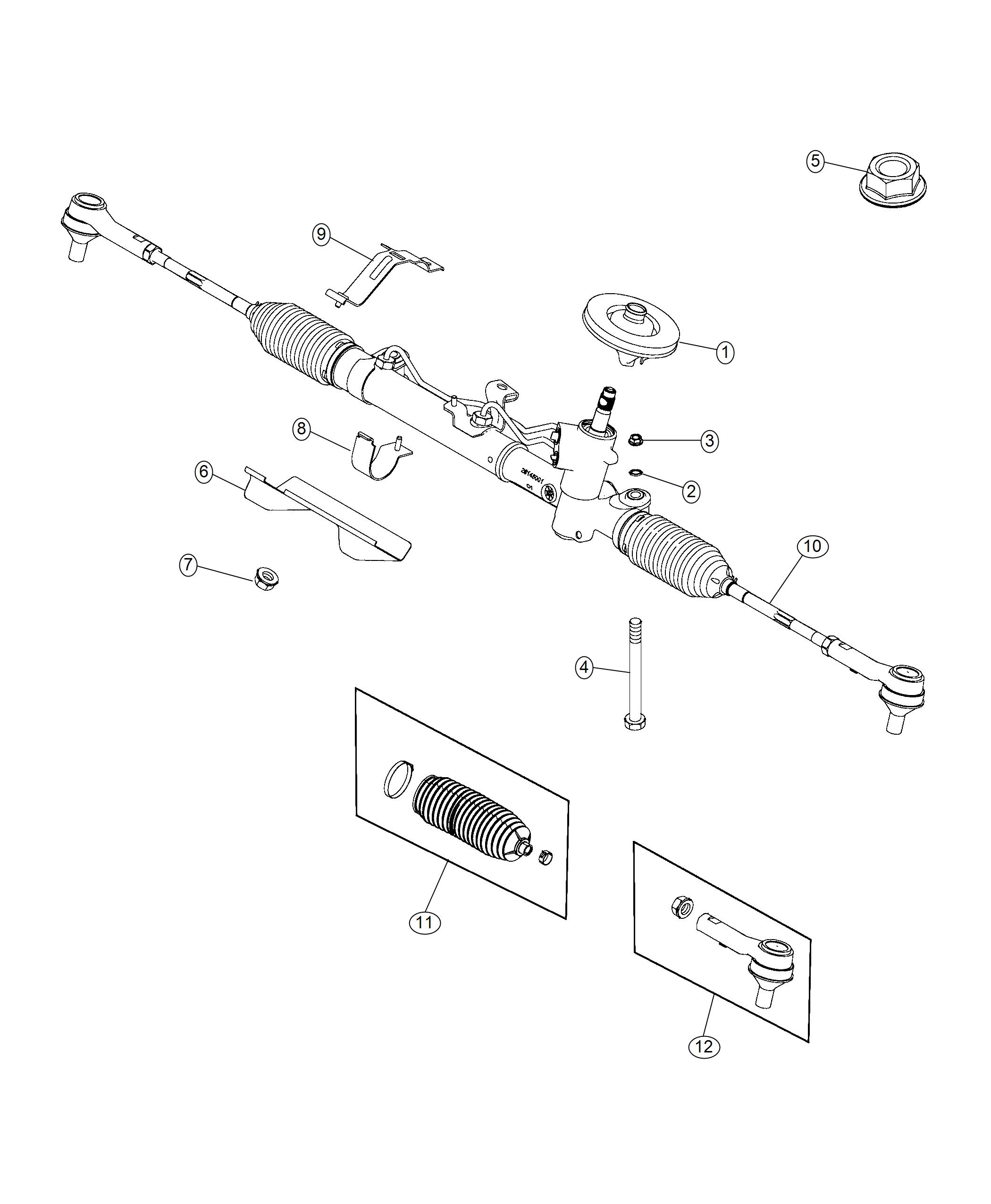 Ram Promaster City Wagon Slt Bracket Steering Gear