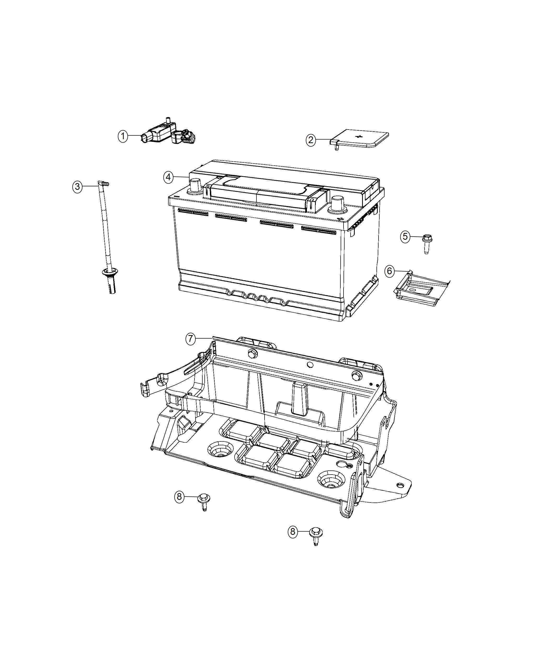 Dodge Charger Sensor Battery Stop Start Multiple Vsm System