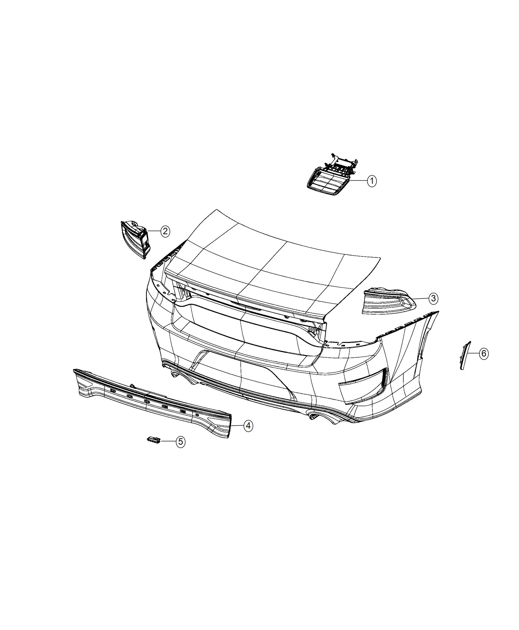 Dodge Charger Lamp. Side marker. Left. [rear fascias parts