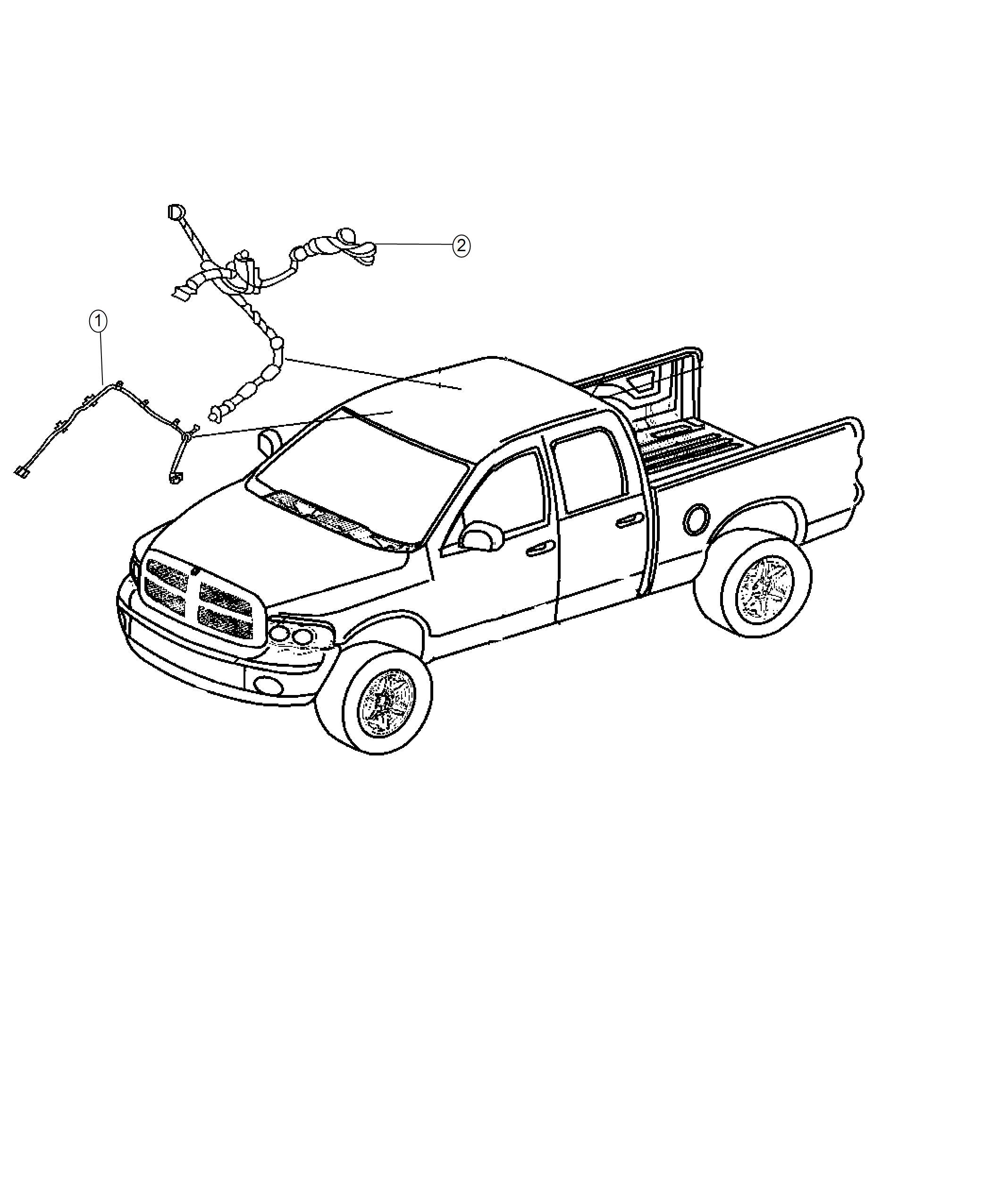 Ram Wiring Header Rr View Auto Dim Mirror W