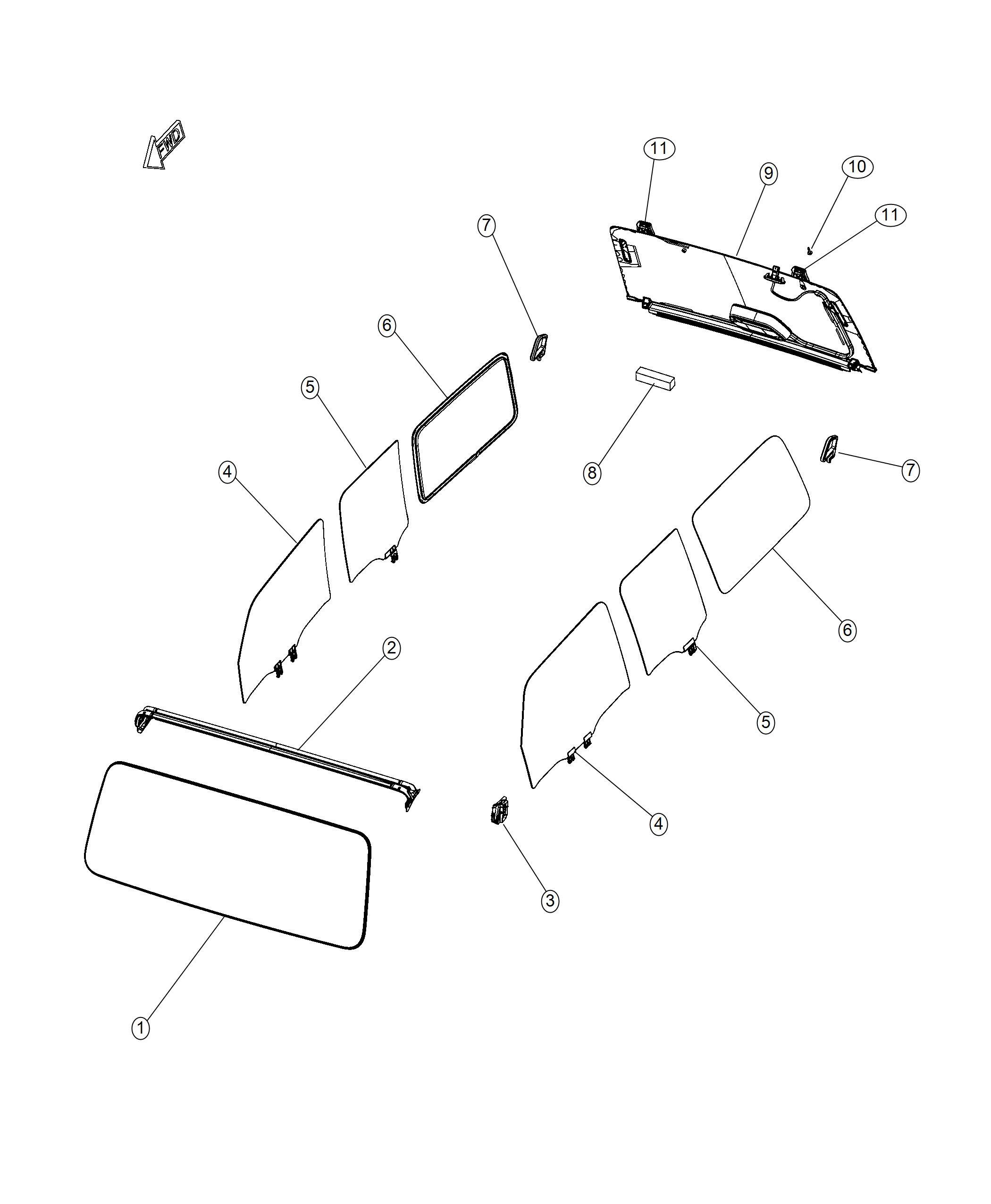 Jeep Wrangler W Shield Solar Control Glass Or Deep