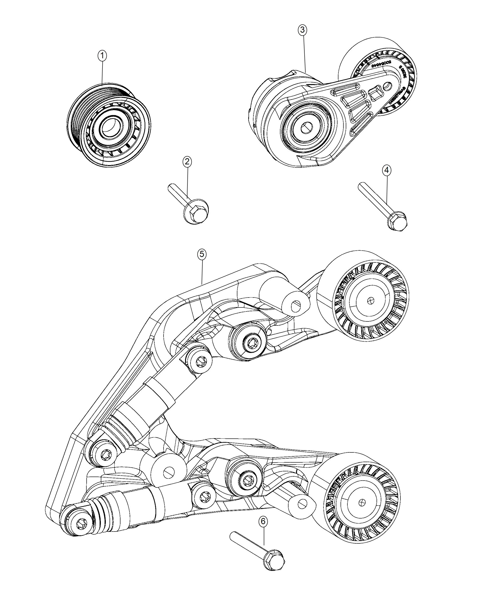 2018 Jeep Wrangler Tensioner. Belt. Related, pulleys, fca