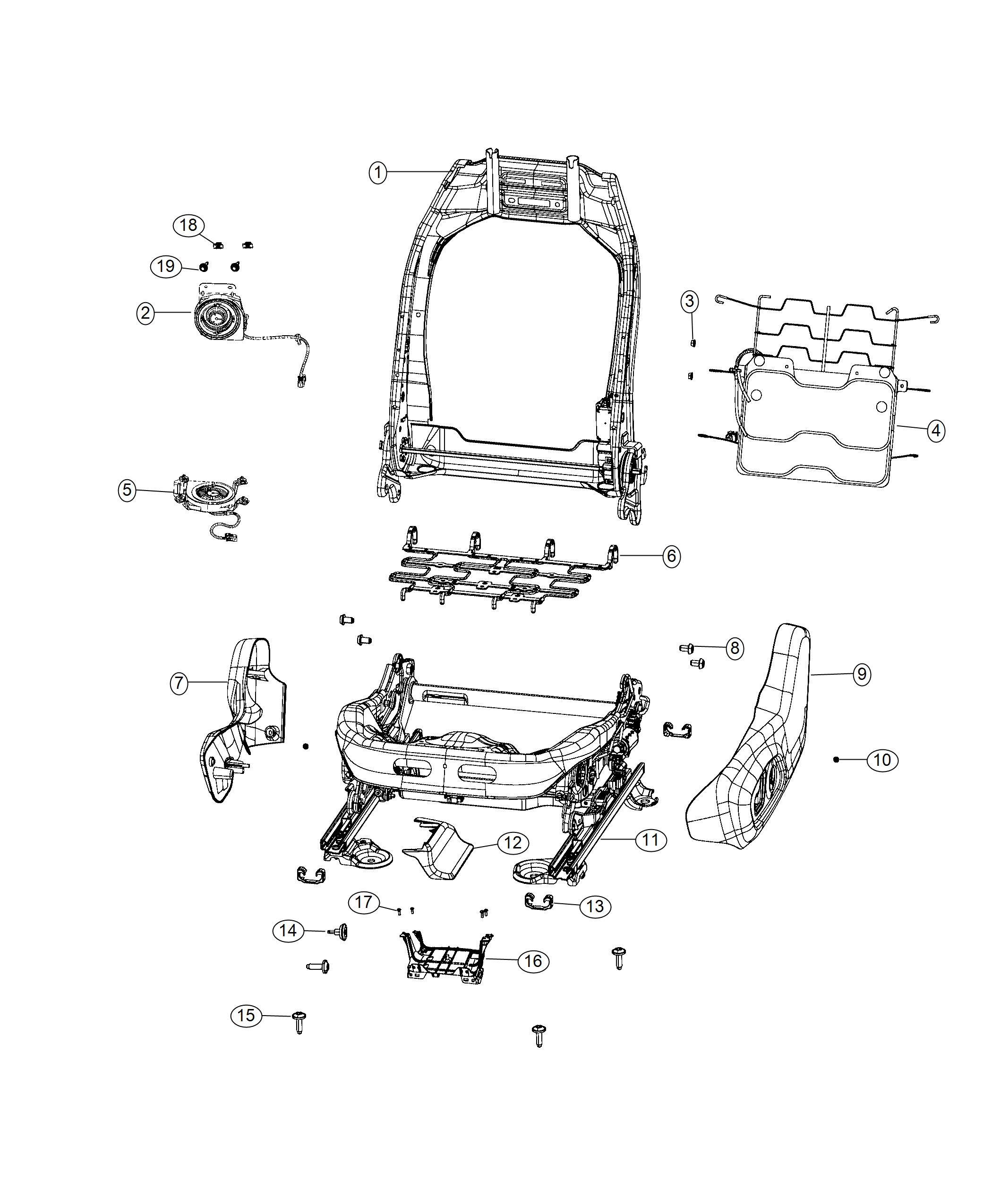 2017 Jeep Renegade Adjuster. Power seat. Driver, seats