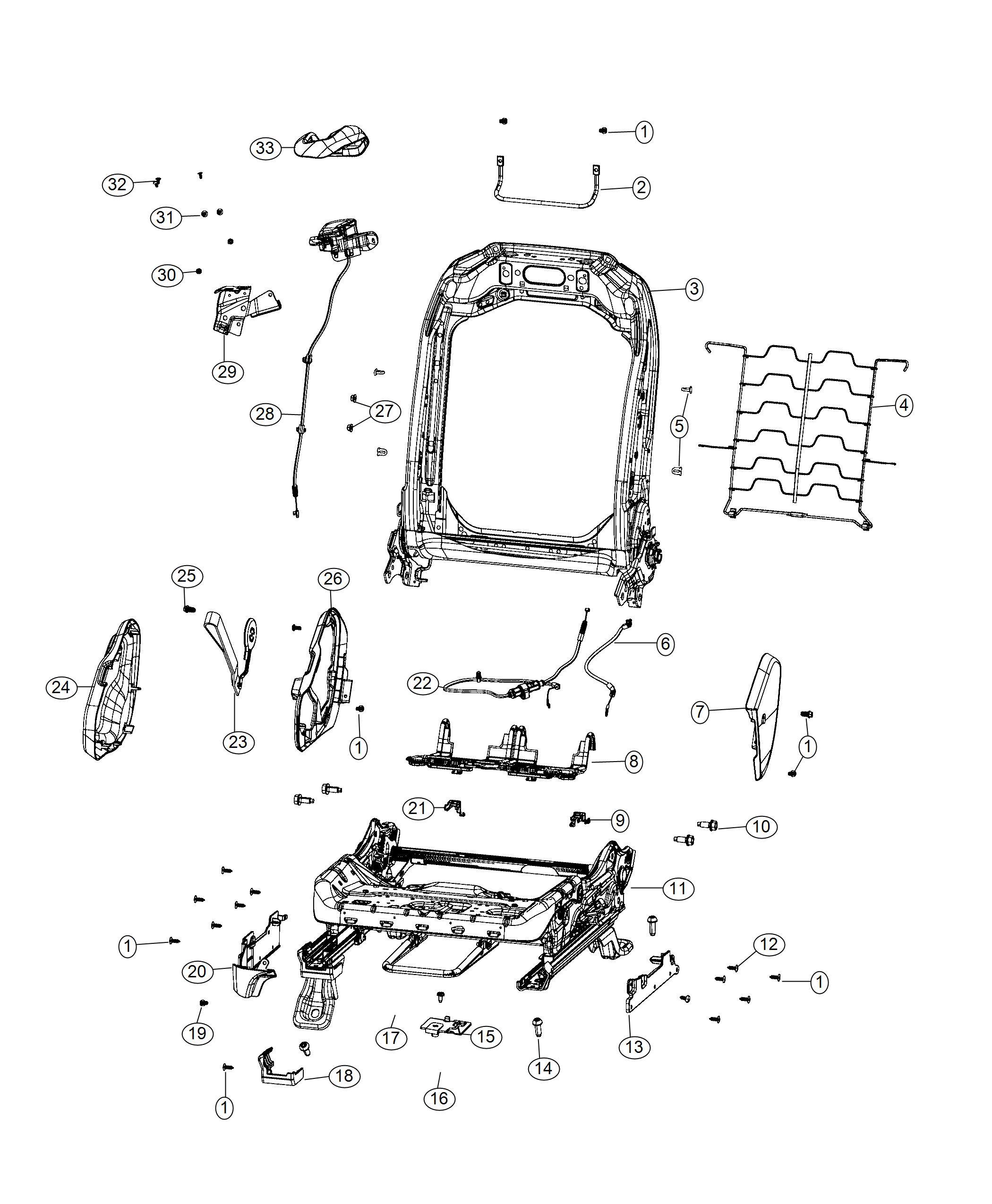 Jeep Wrangler Pull Strap Seat Recliner Export Black