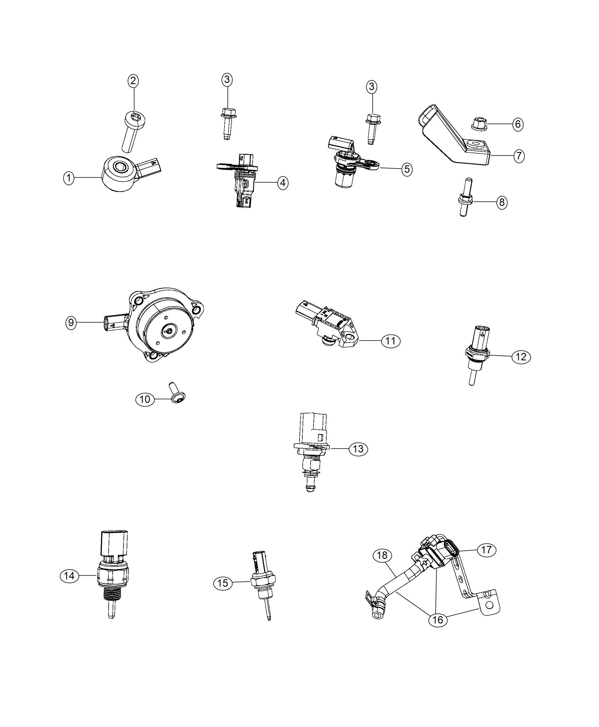 Jeep Wrangler Sensor Crankcase Pressure With Hose