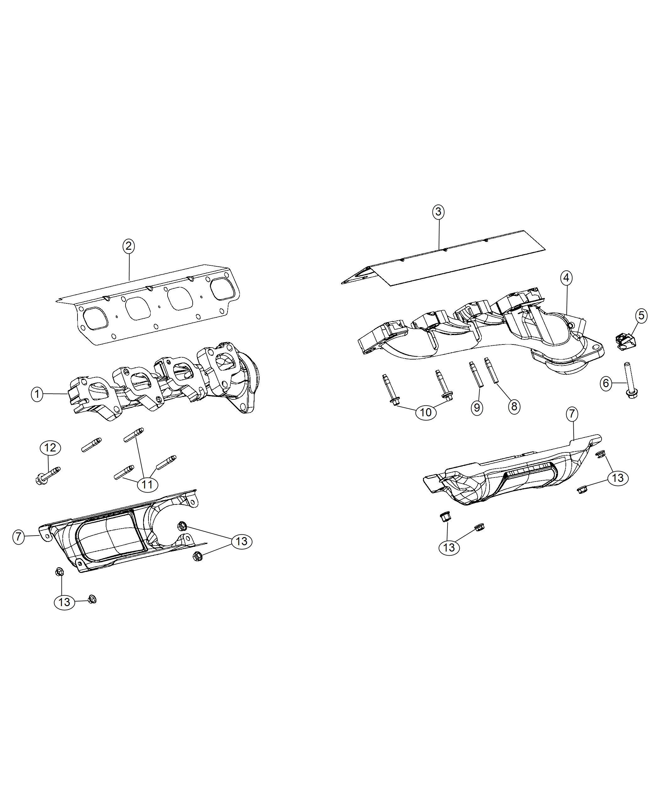 Ram Shield Exhaust Manifold Left Left Side Right