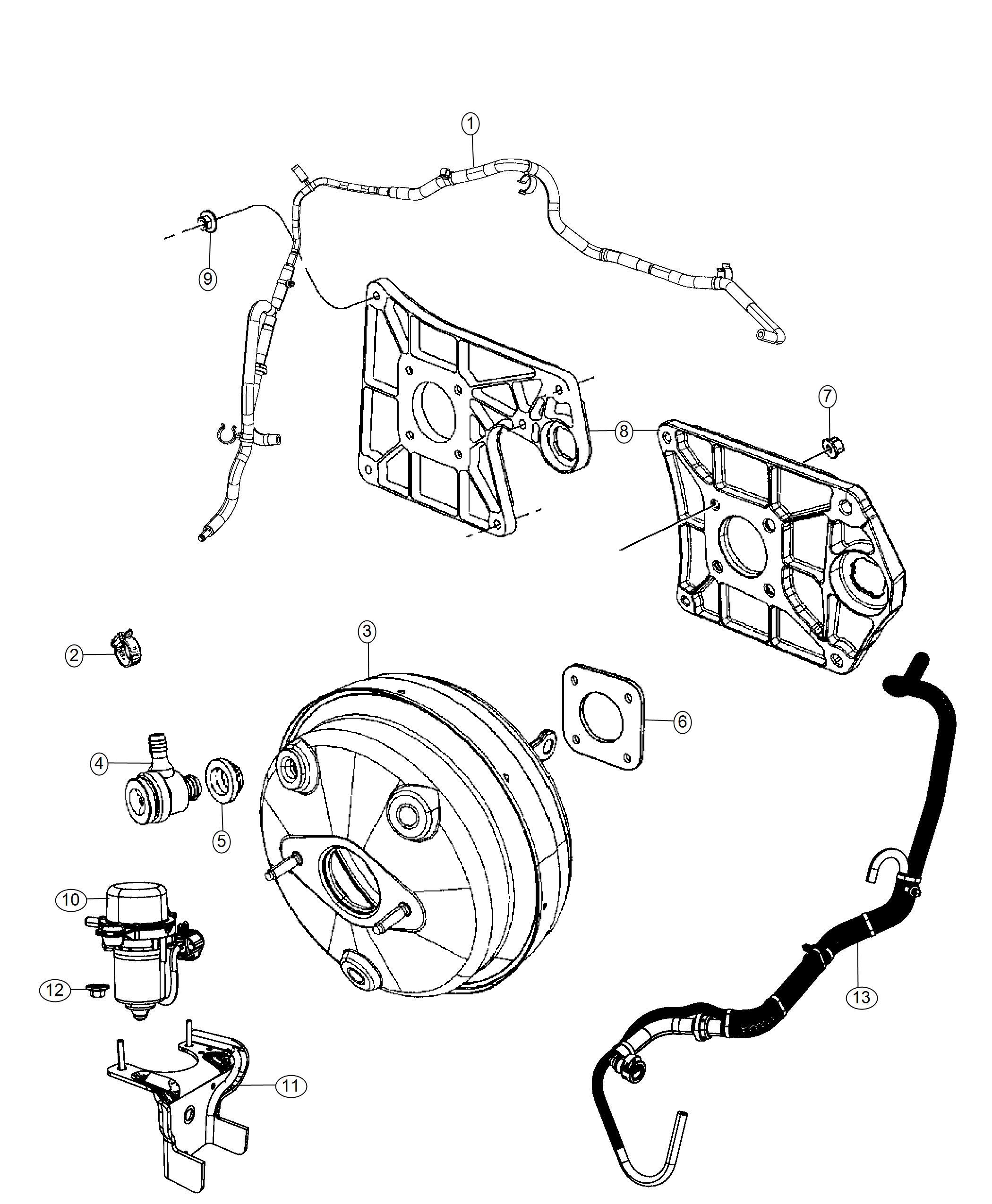 Jeep Wrangler Pump. Air. [3.6l v6 vvt engine]. Brake