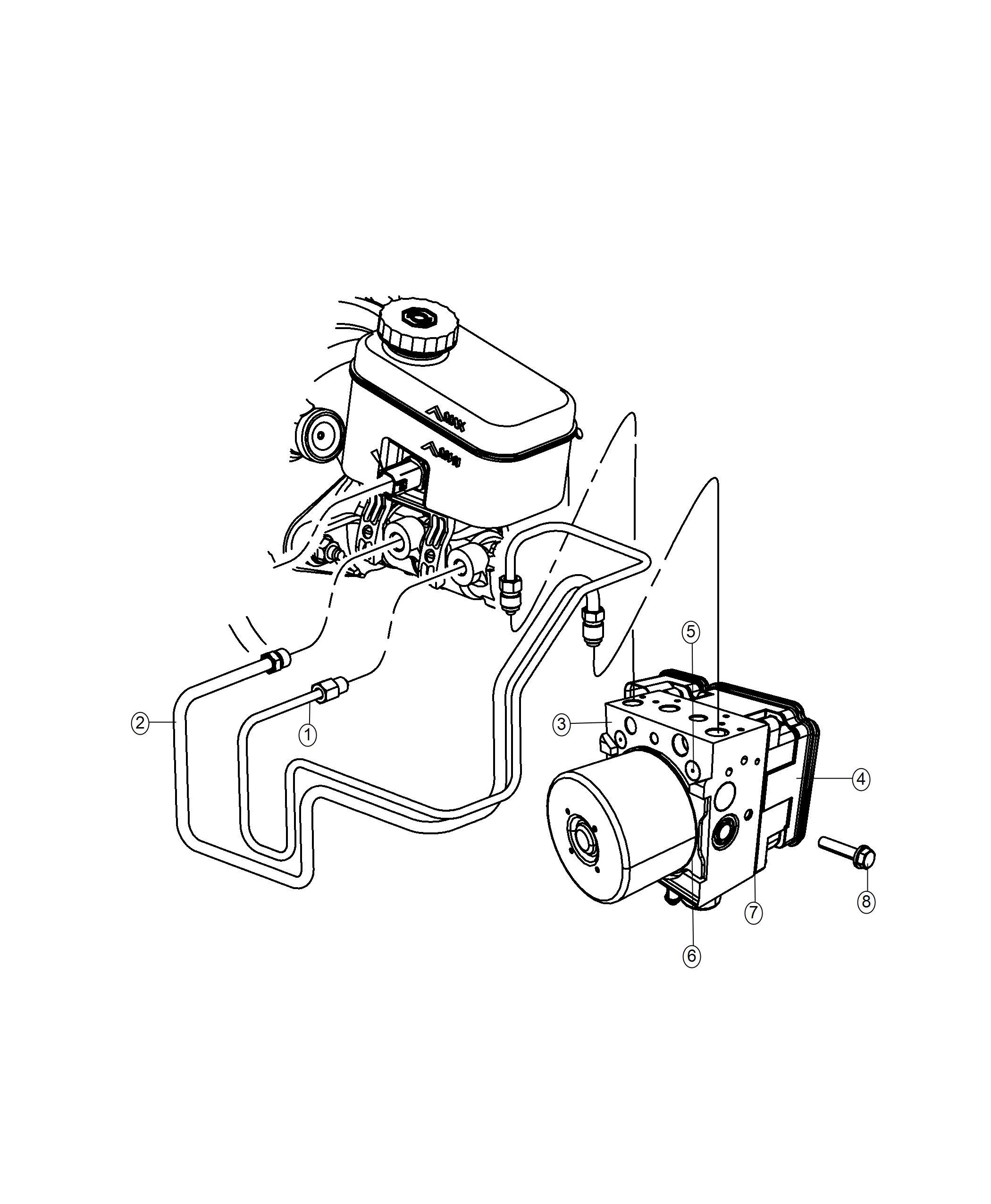 Jeep Wrangler Module Anti Lock Brake System