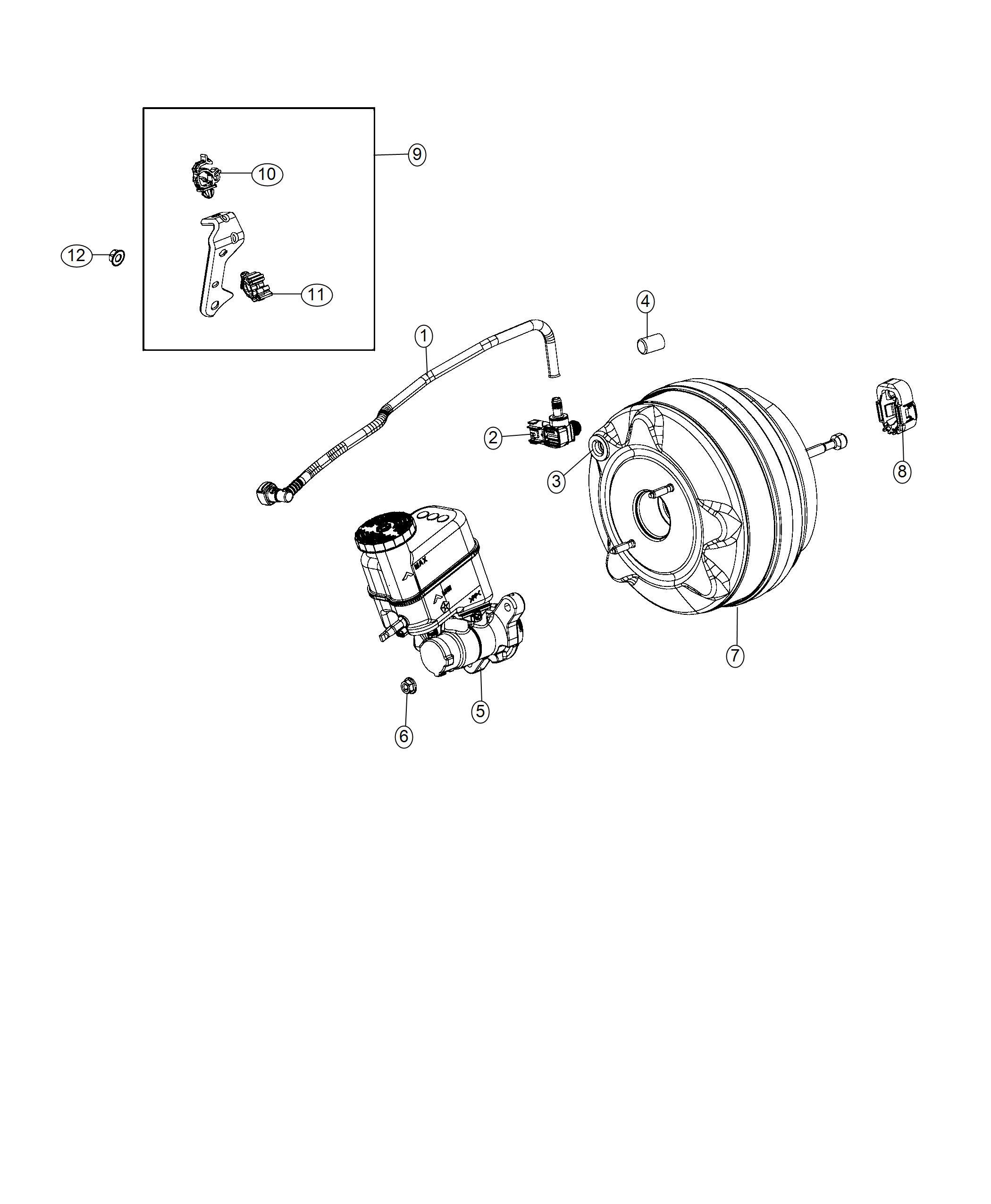 2018 Fiat 500X Booster. Power brake. Dfh, maintenance