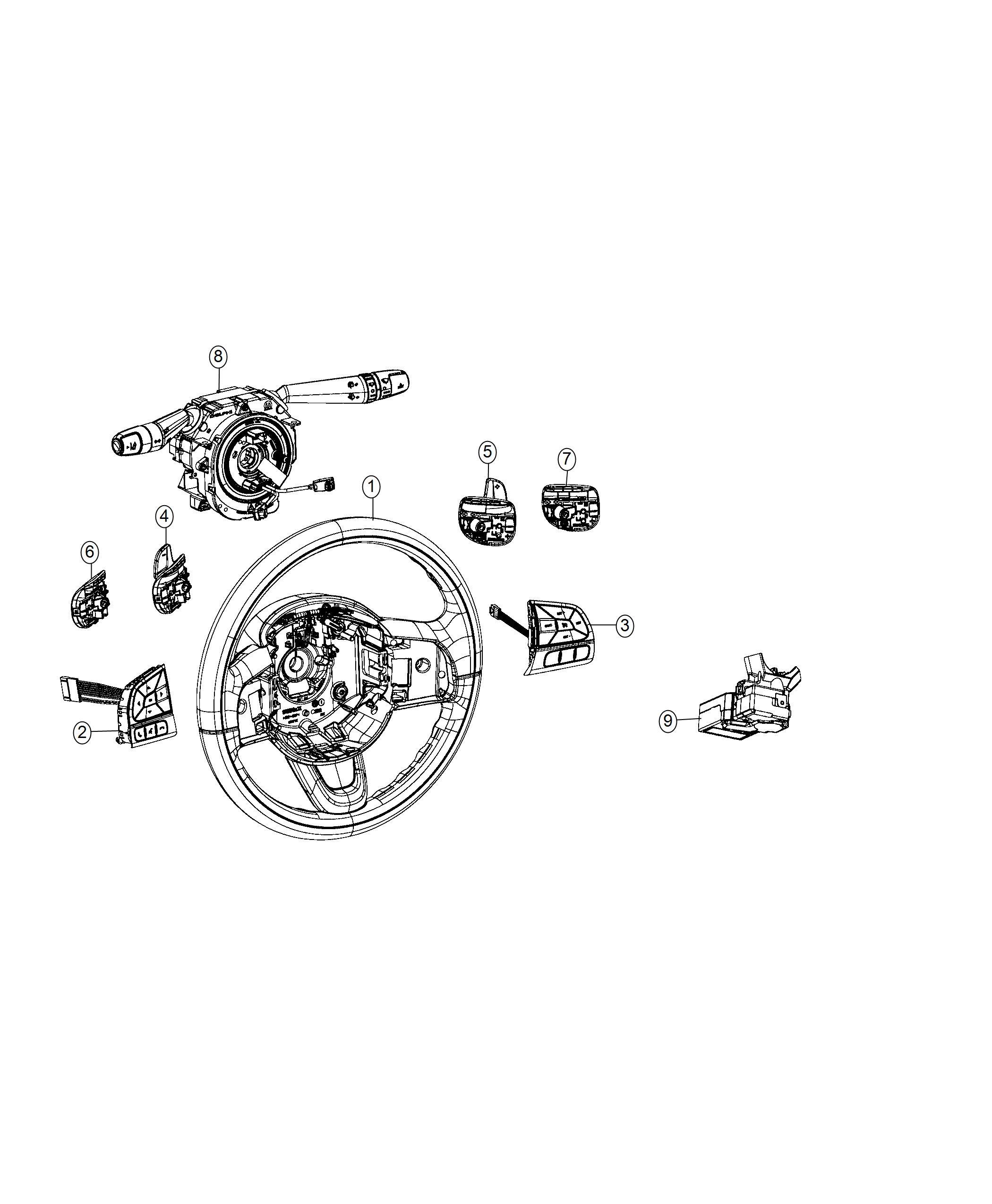 2016 Jeep Renegade Clockspring. Steering column control