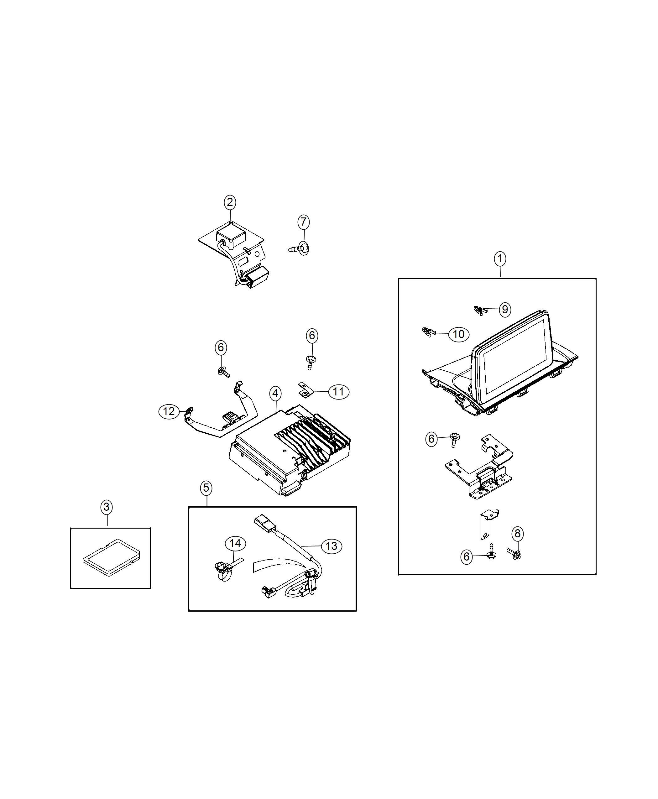Fiat SPIDER Wiring. Module jumper. Radio, multi, mopar