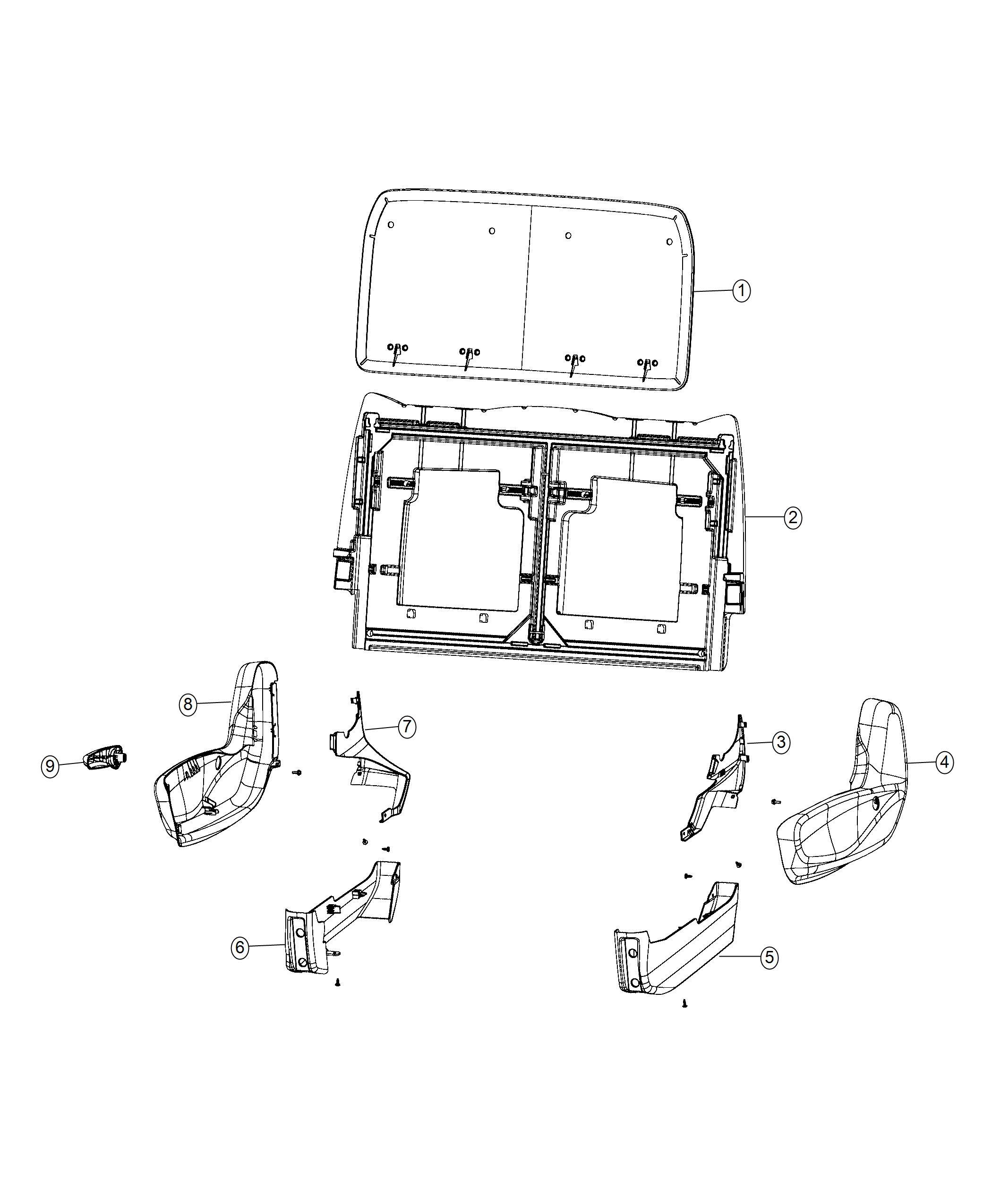 Chrysler Pacifica Shield Rear Seat Trim No Description