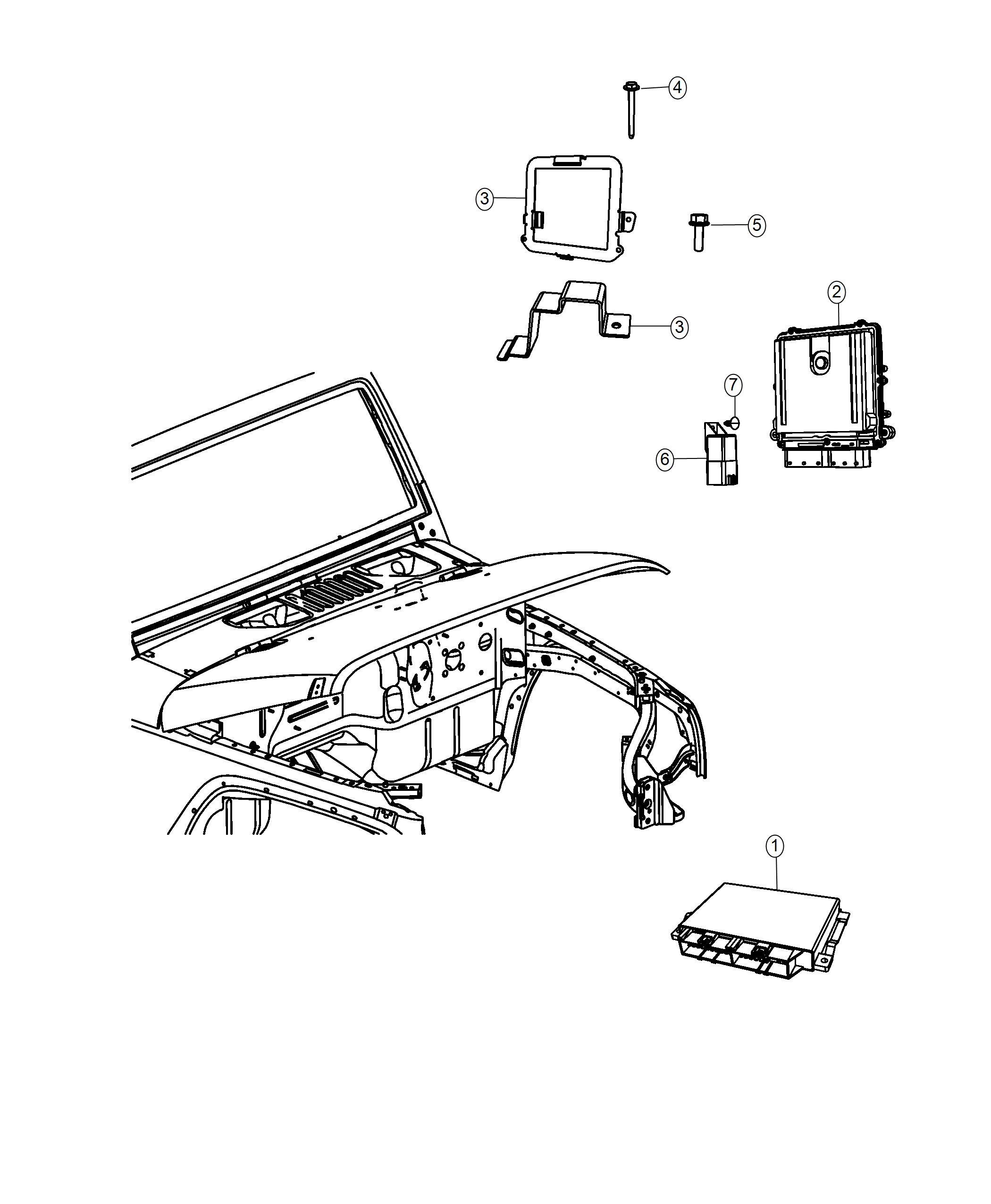 Jeep Wrangler Bracket Engine Control Module Euro Stage