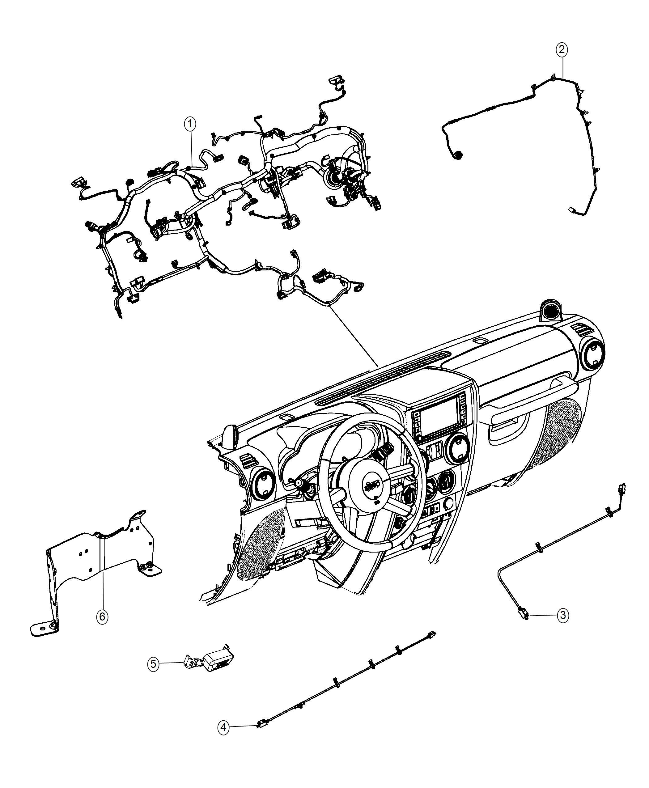 Jeep Wrangler Wiring Jumper Telematics Module Voice