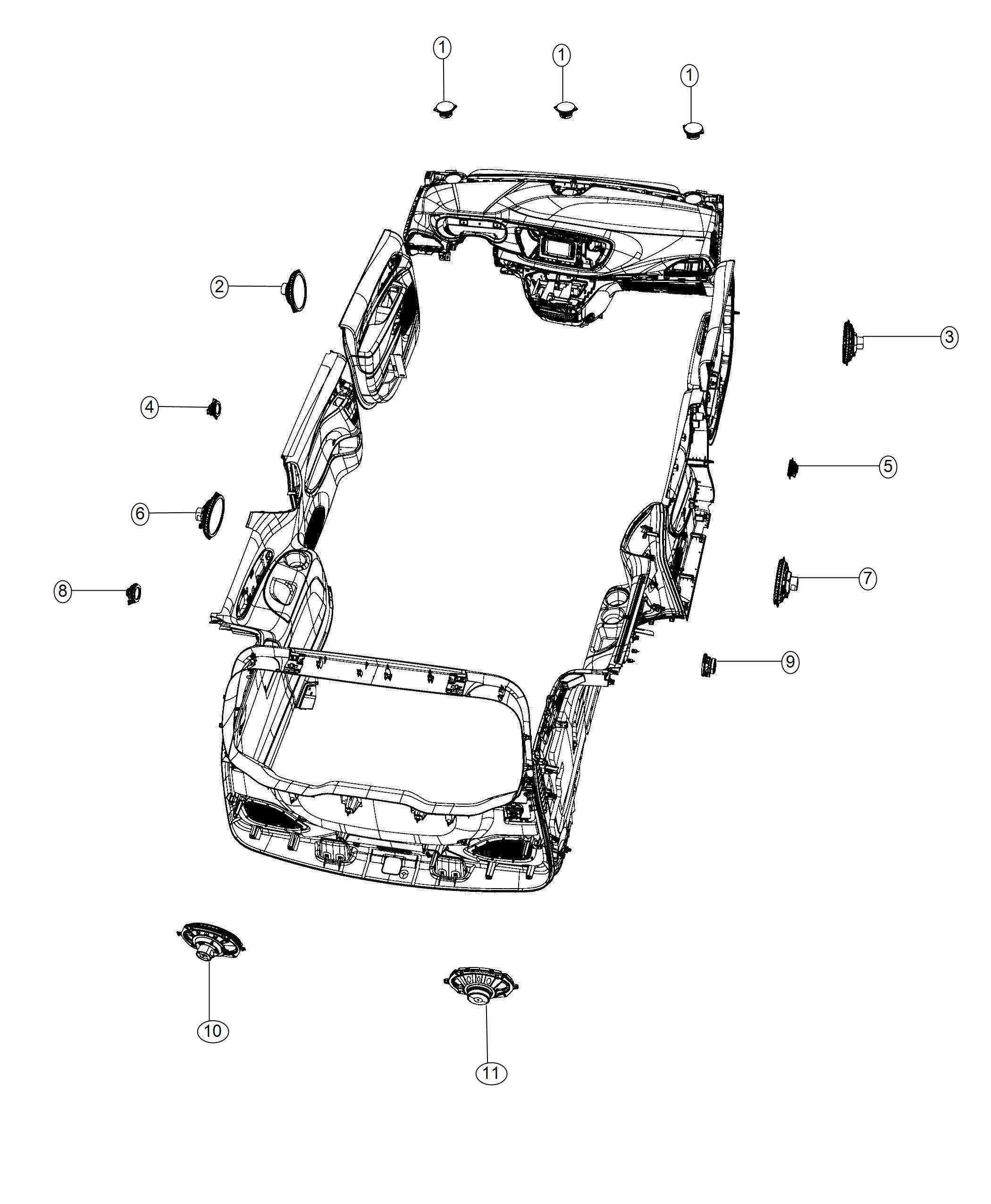 Chrysler Pacifica Speaker. Rear. 6x9. Left, right. [alpine