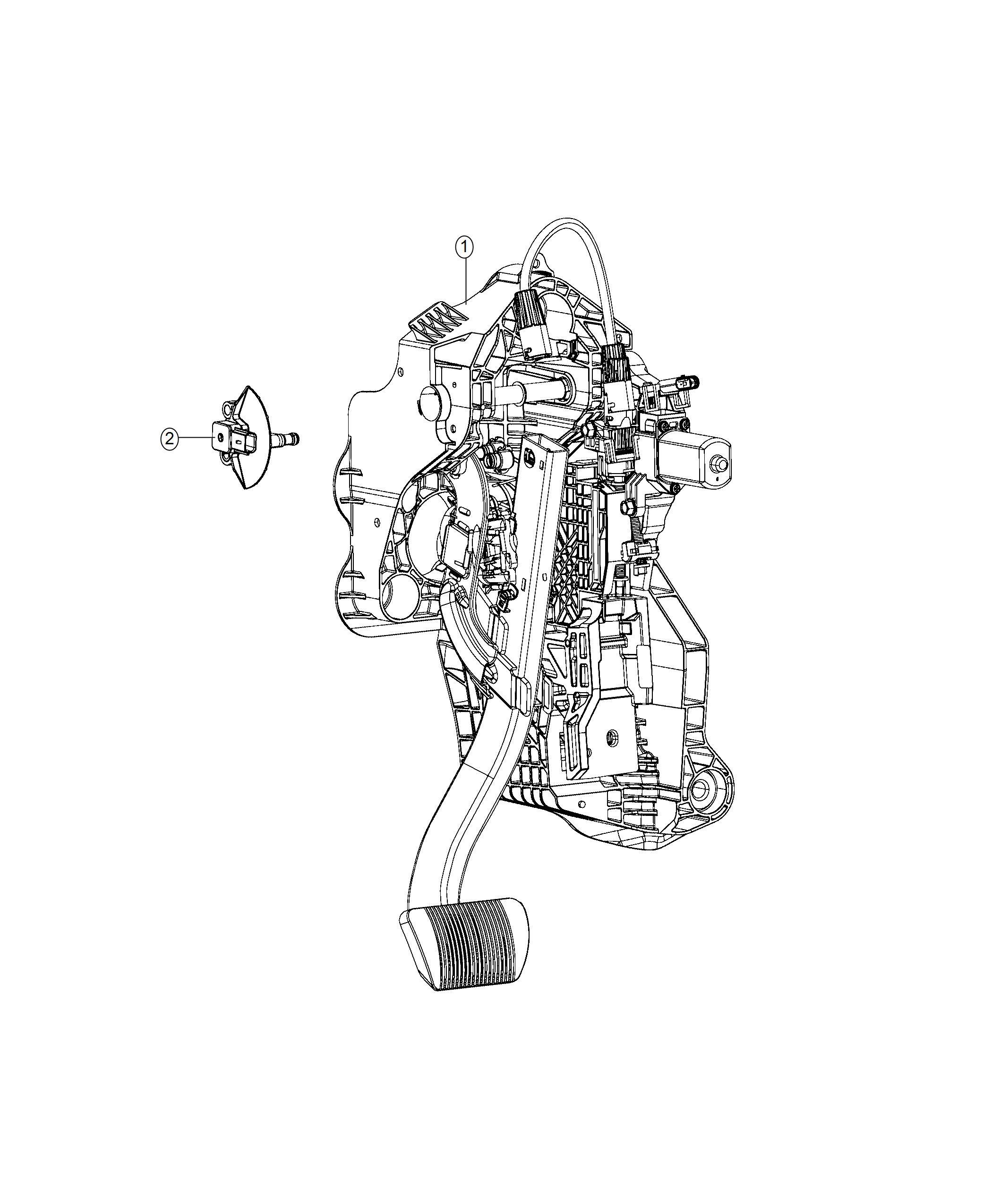 Ram 1500 Sensor. Brake pedal. [power adjustable pedals w
