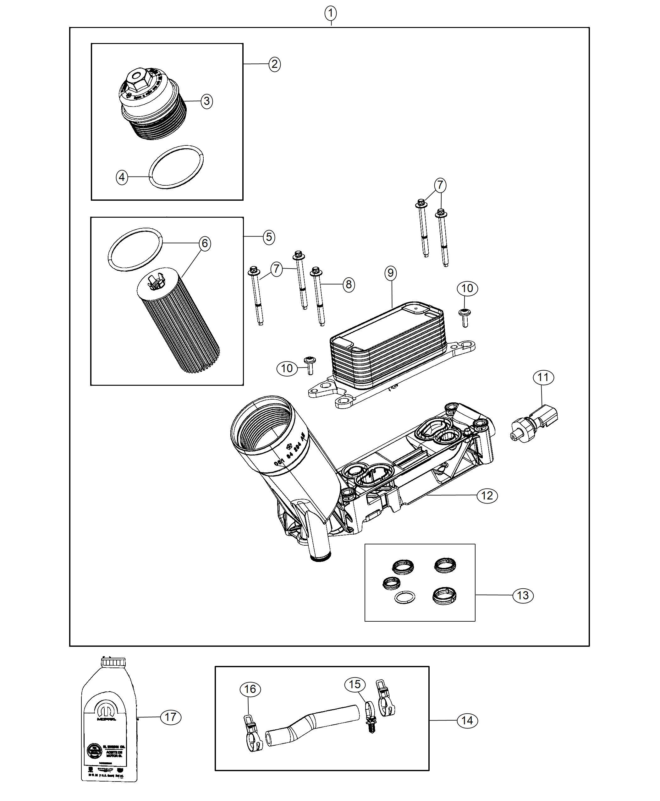 Jeep Wrangler Engine oil. 0w20. Quart. Adapter, filter