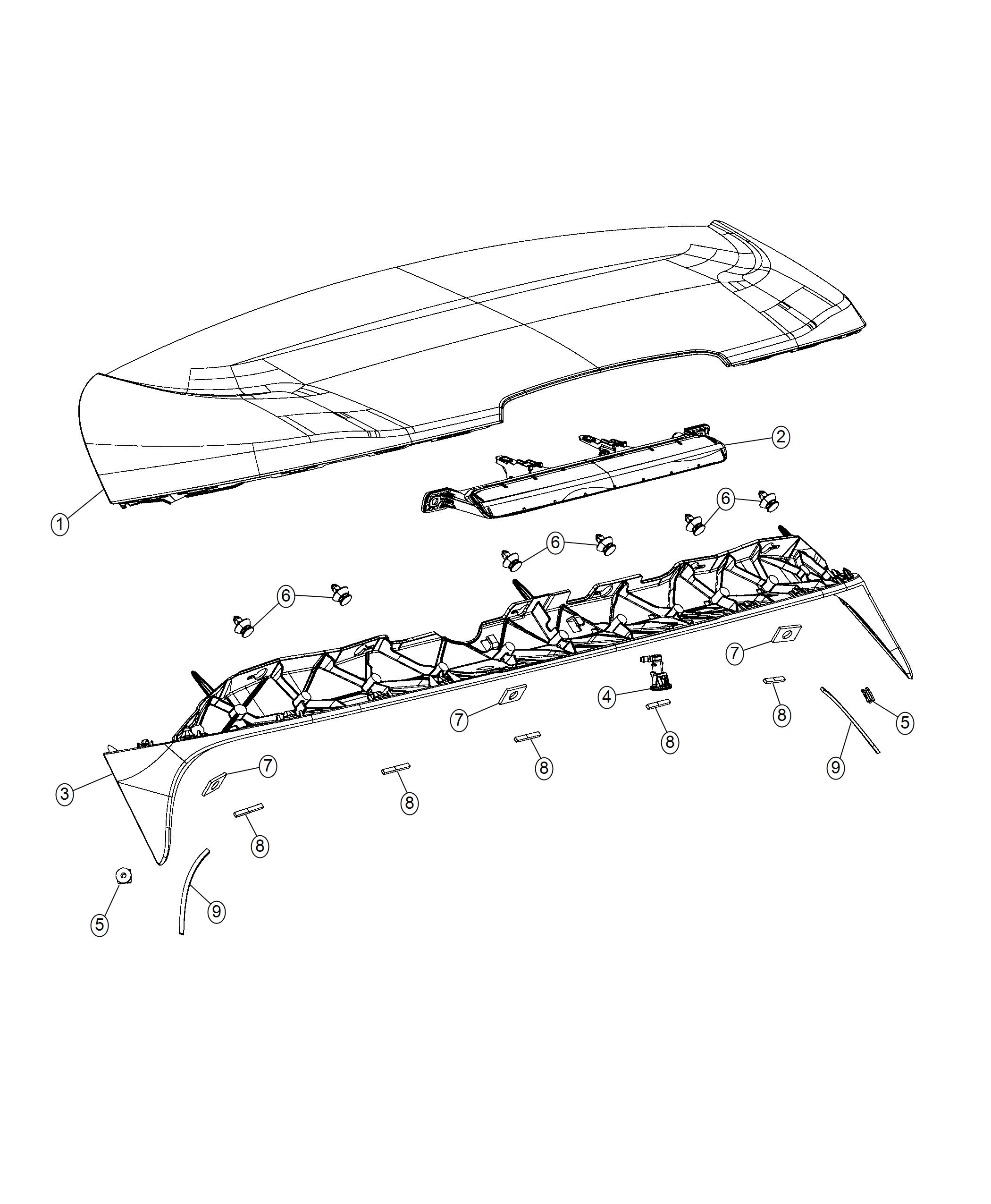 Jeep Cherokee Spoiler. Liftgate. [liftgate assembly module