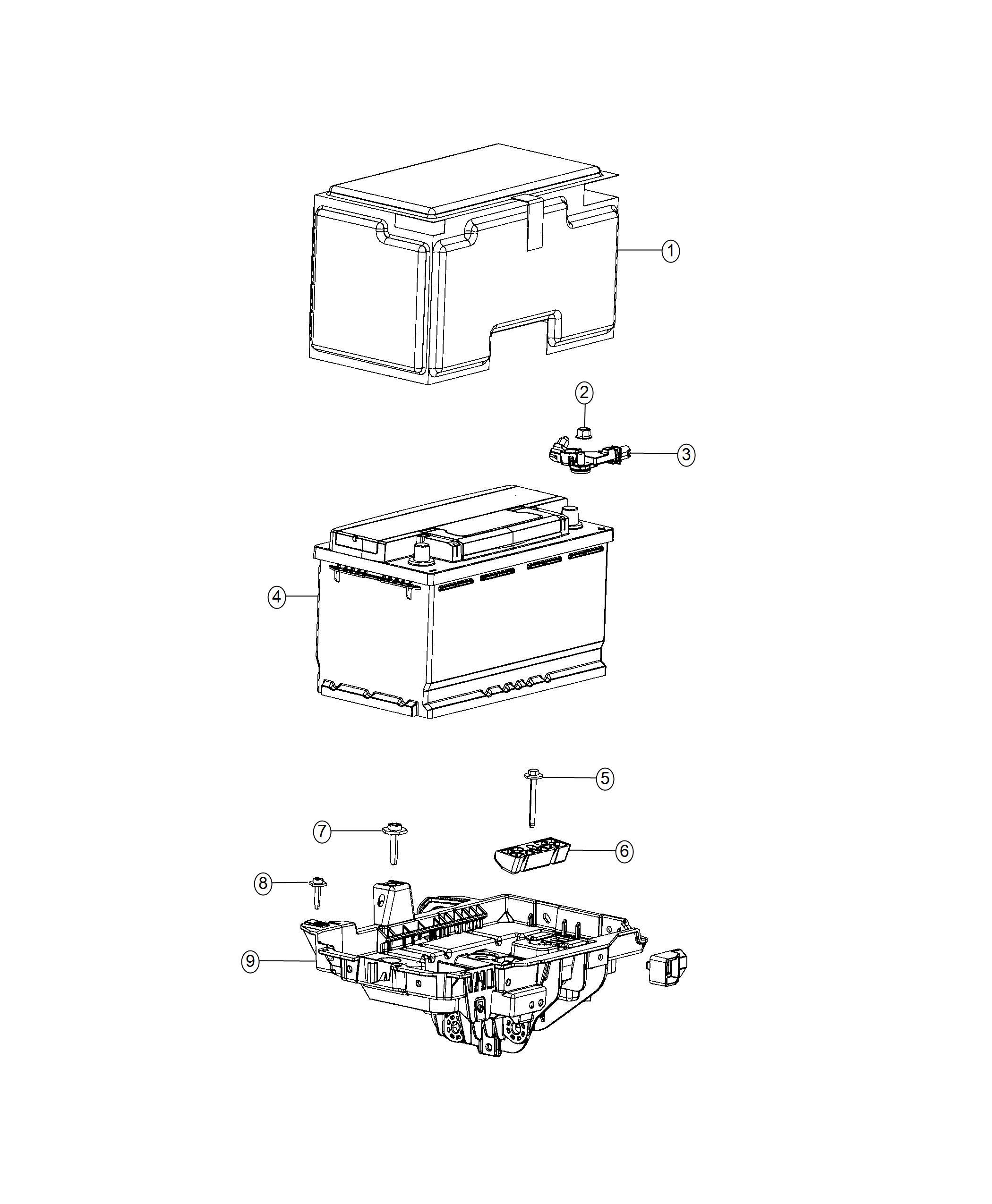 Jeep Cherokee Sensor. Battery. [stop-start multiple vsm