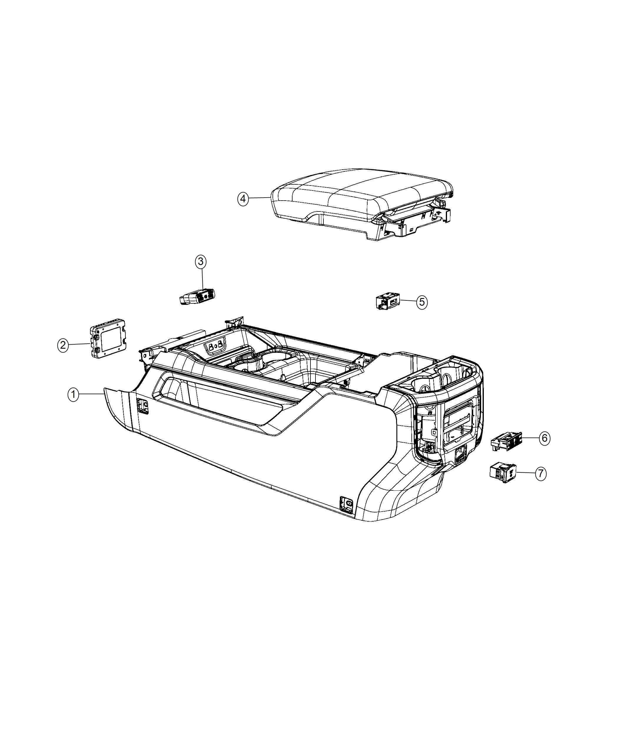 Ram Power Outlet Inverter Trim No Description