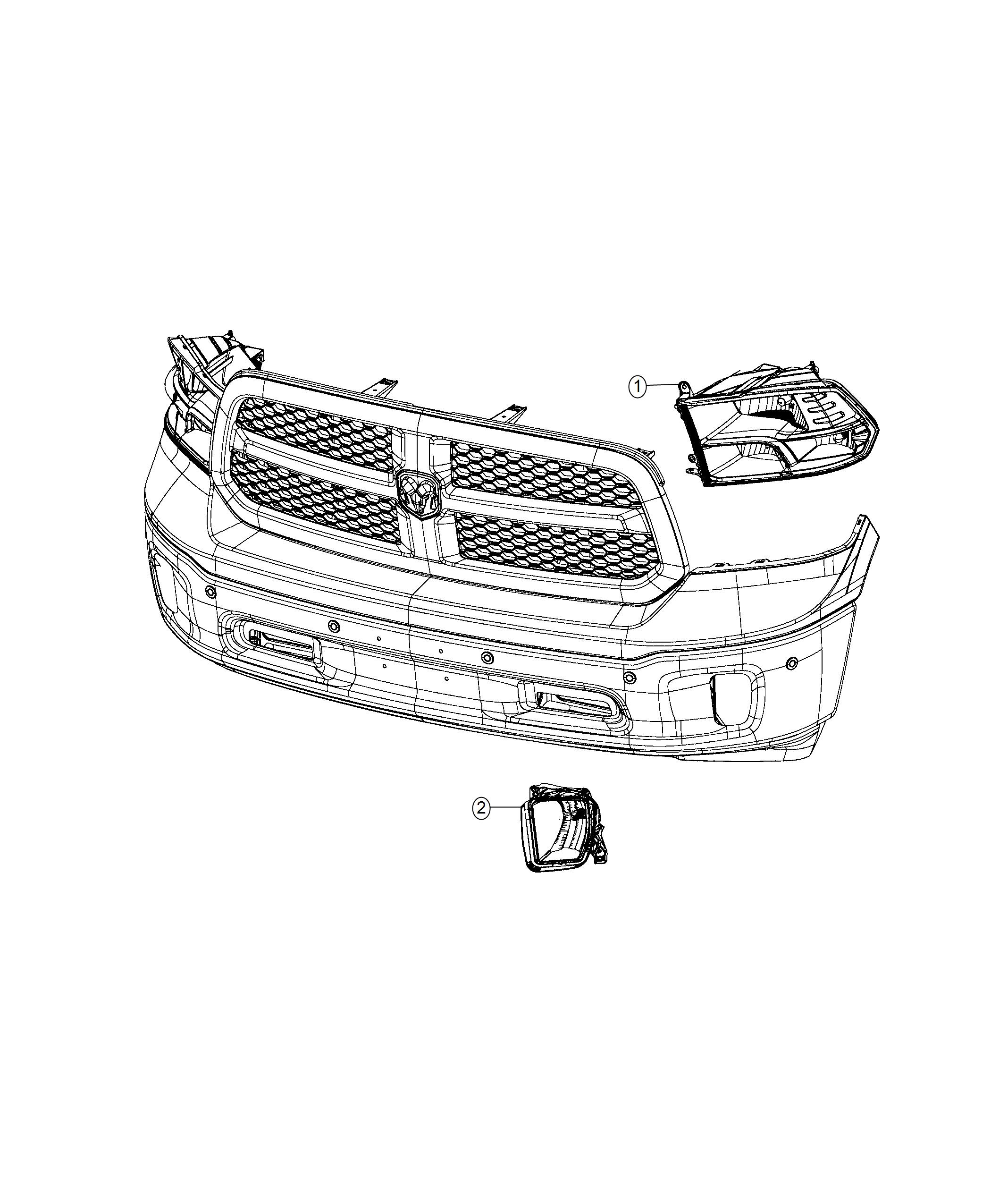 Ram 1500 Lamp. Used for: headlamp park and turn. Left