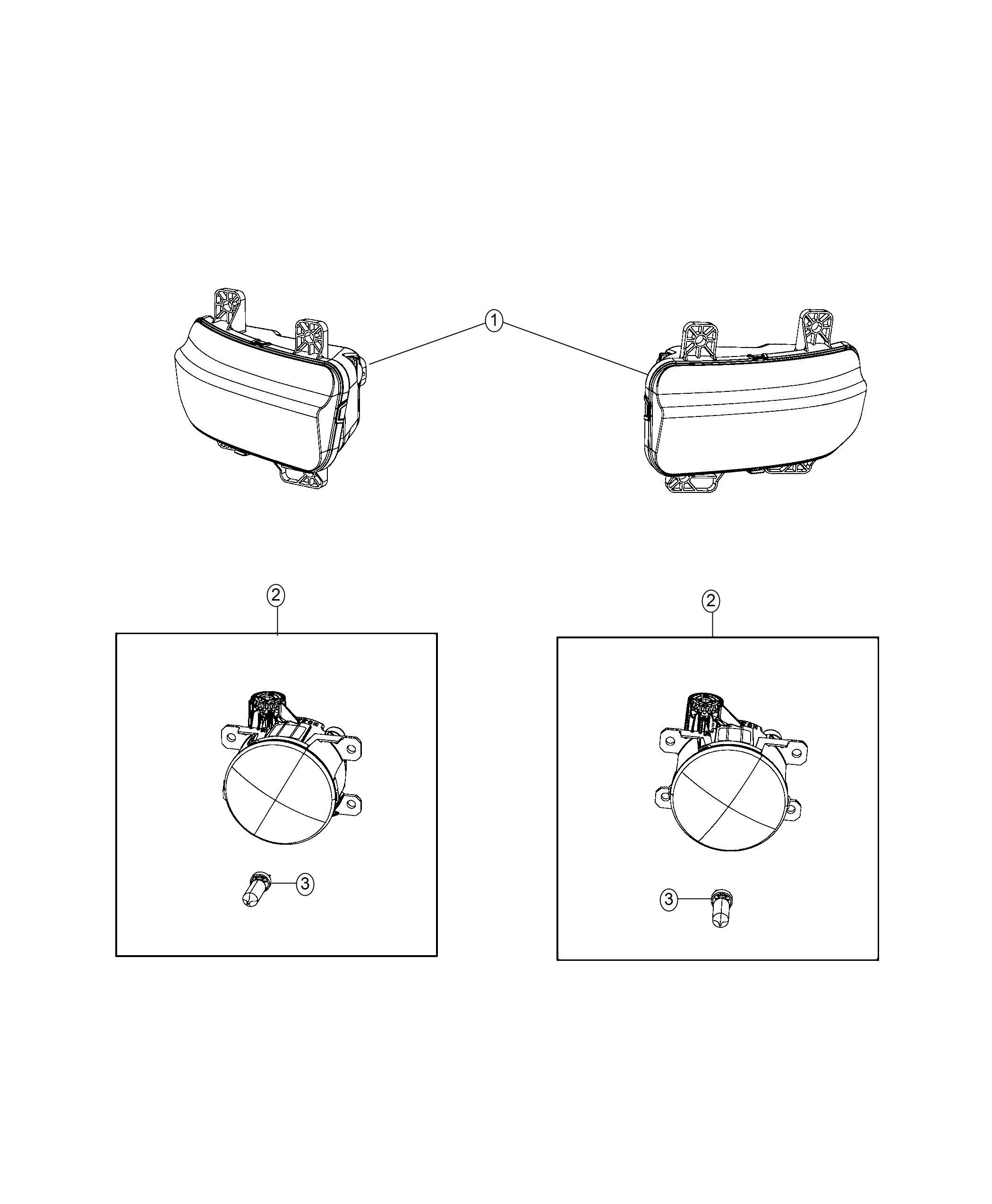 Ram 1500 Lamp. Fog. Led. Left. [bumper module ii], [led