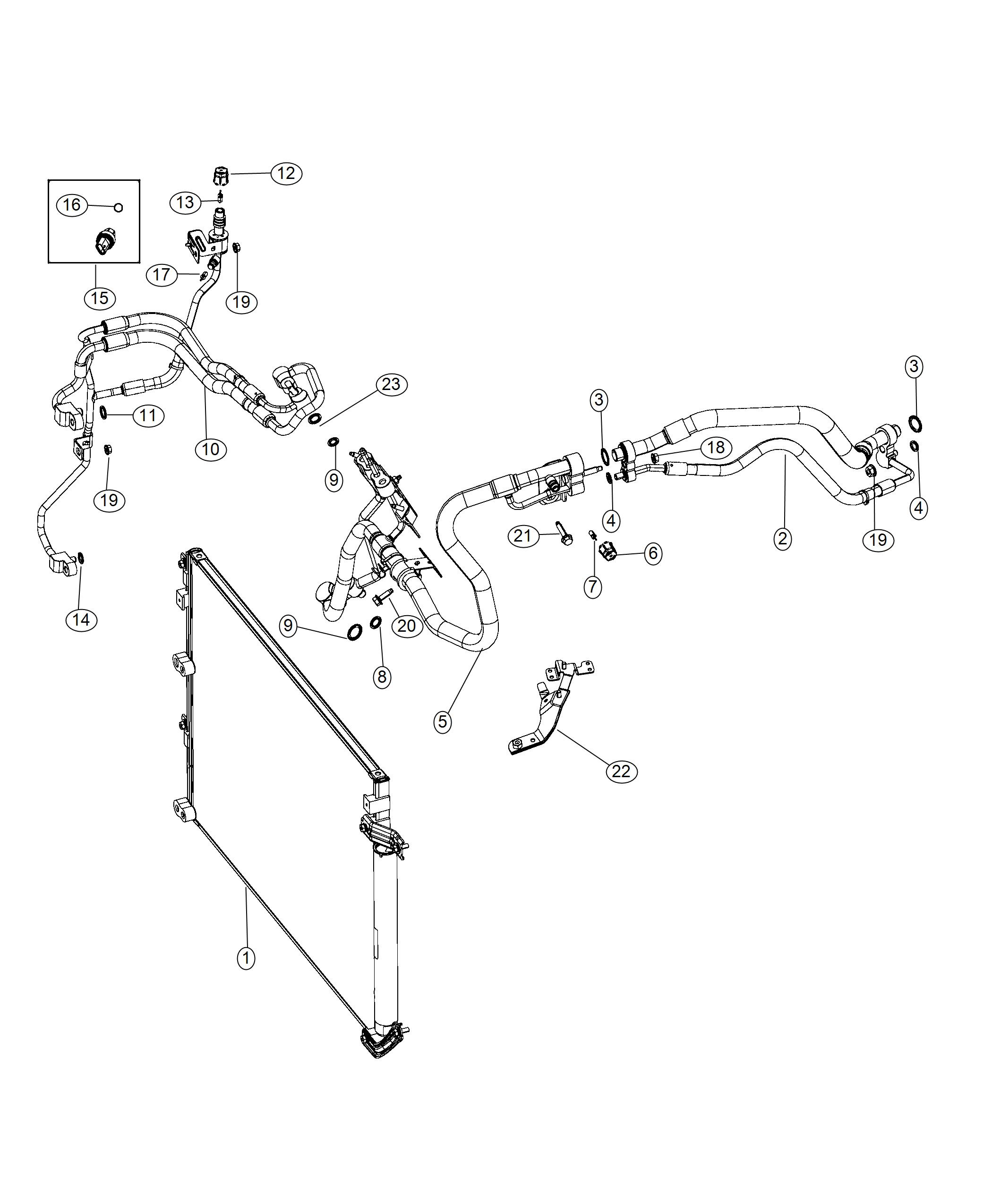 Jeep Cherokee Bracket A C Line A C Lines And Wiring Air