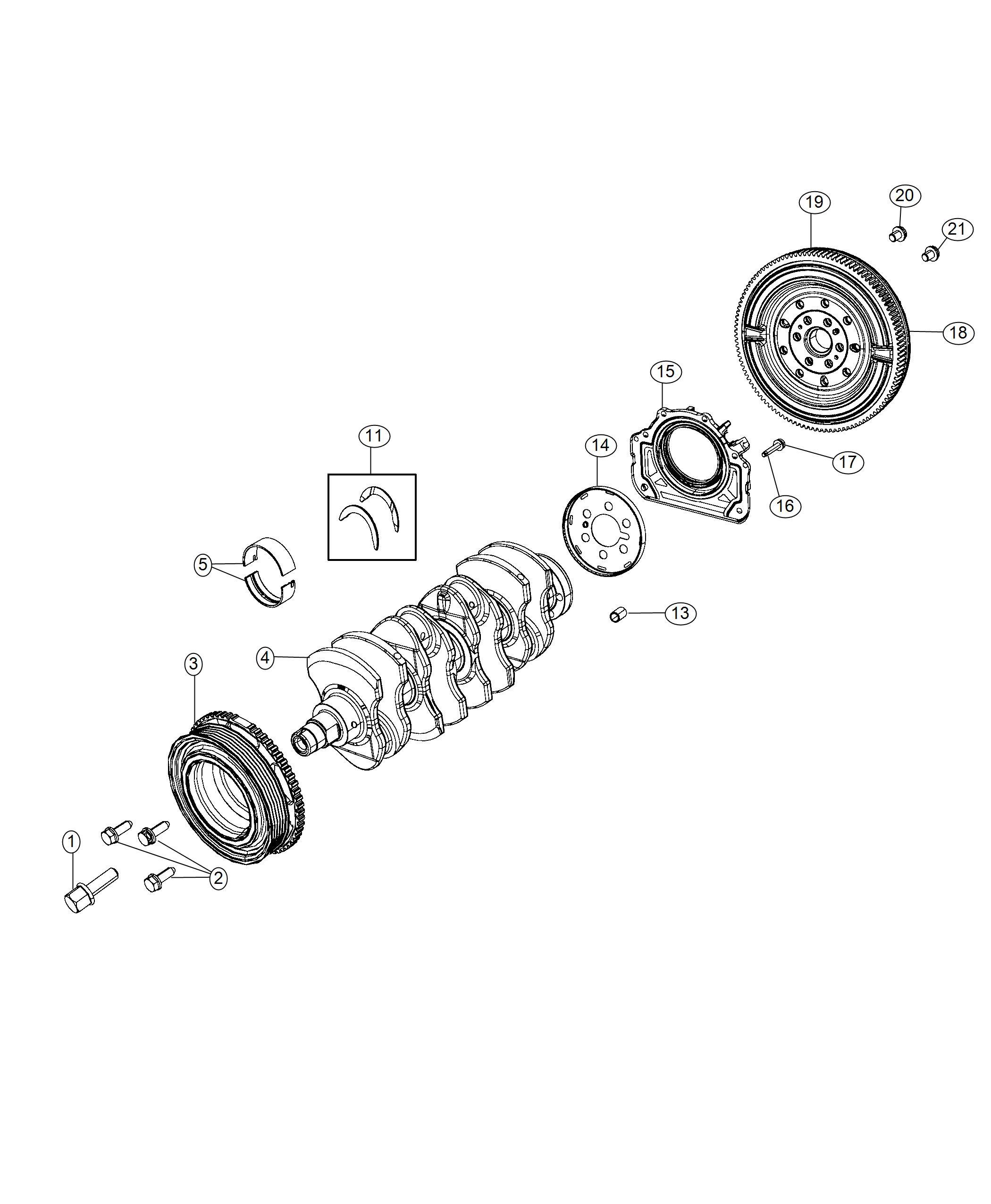Jeep Renegade Reluctor Wheel Target Wheel Crankshaft