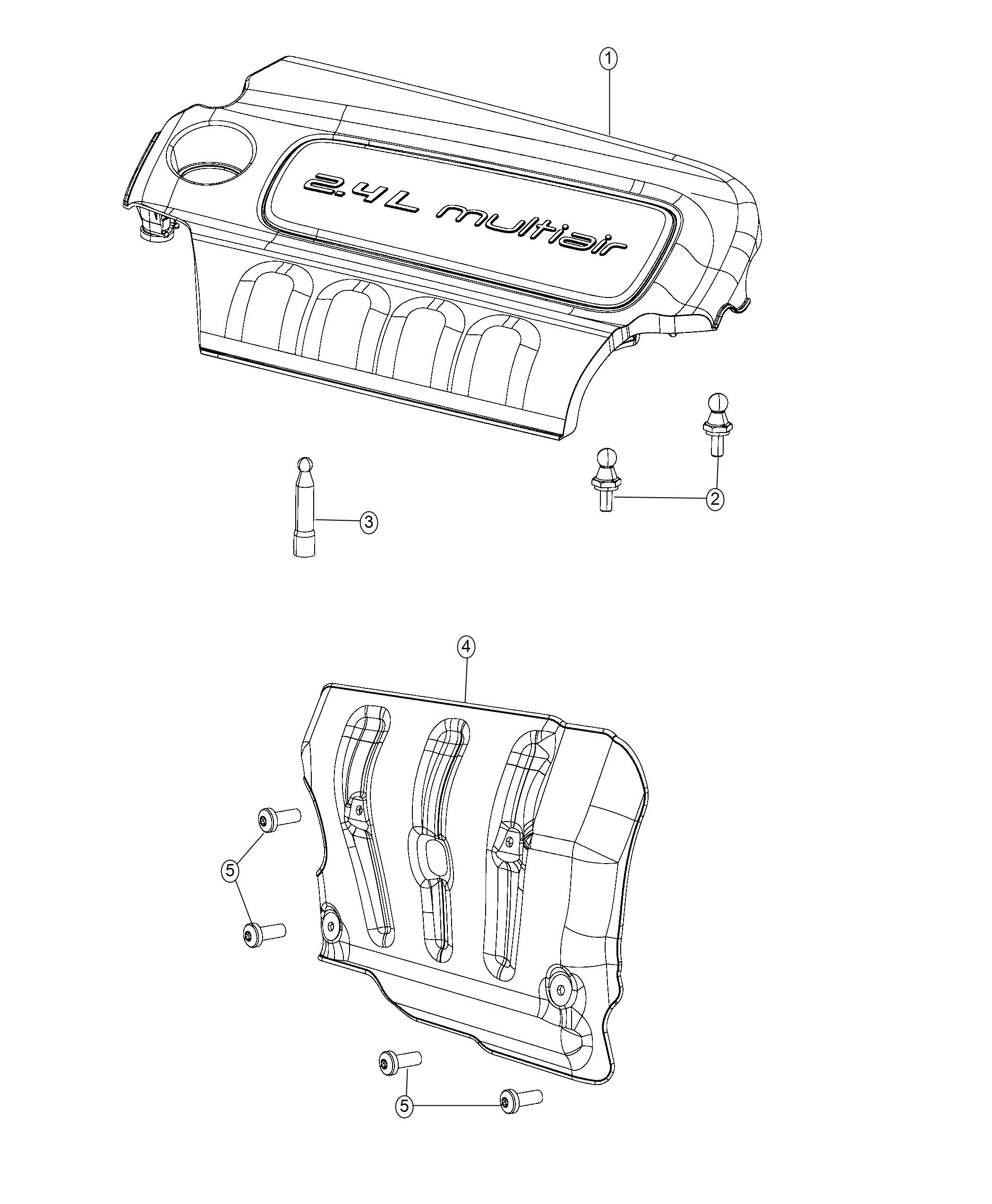 Jeep Renegade Cover Intake Manifold Export Engine