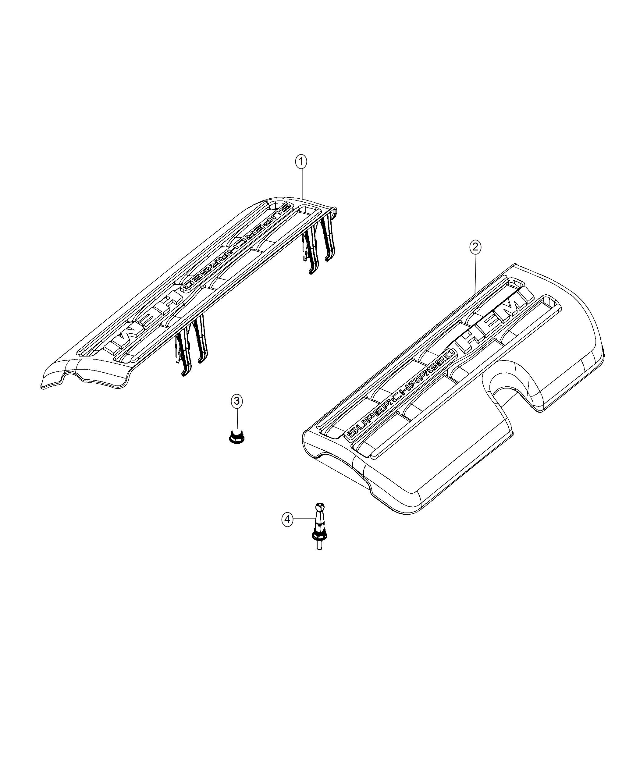 Jeep Grand Cherokee Cover. Ignition coil. Left side