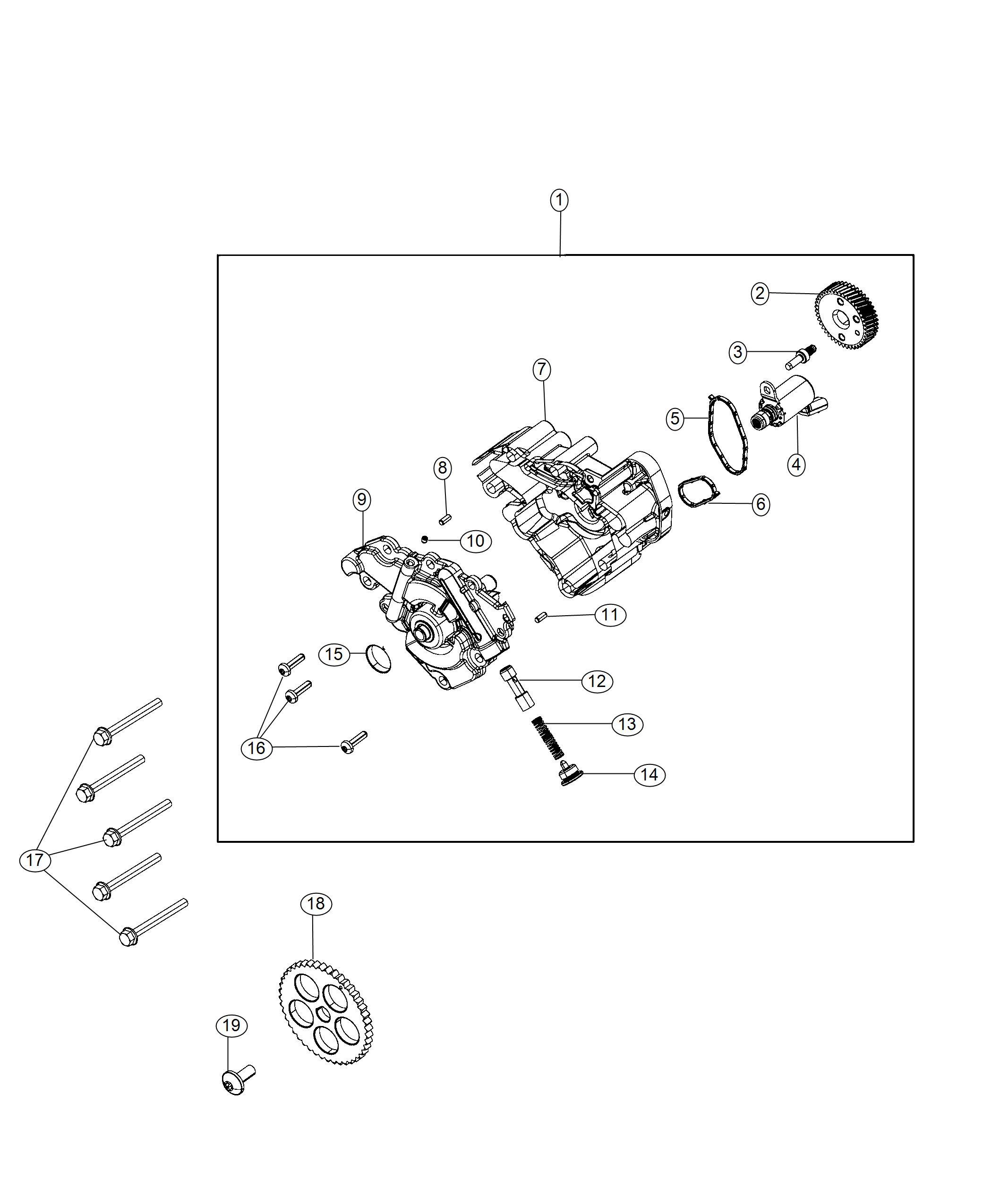 Jeep Wrangler Snap Ring Washer Engine