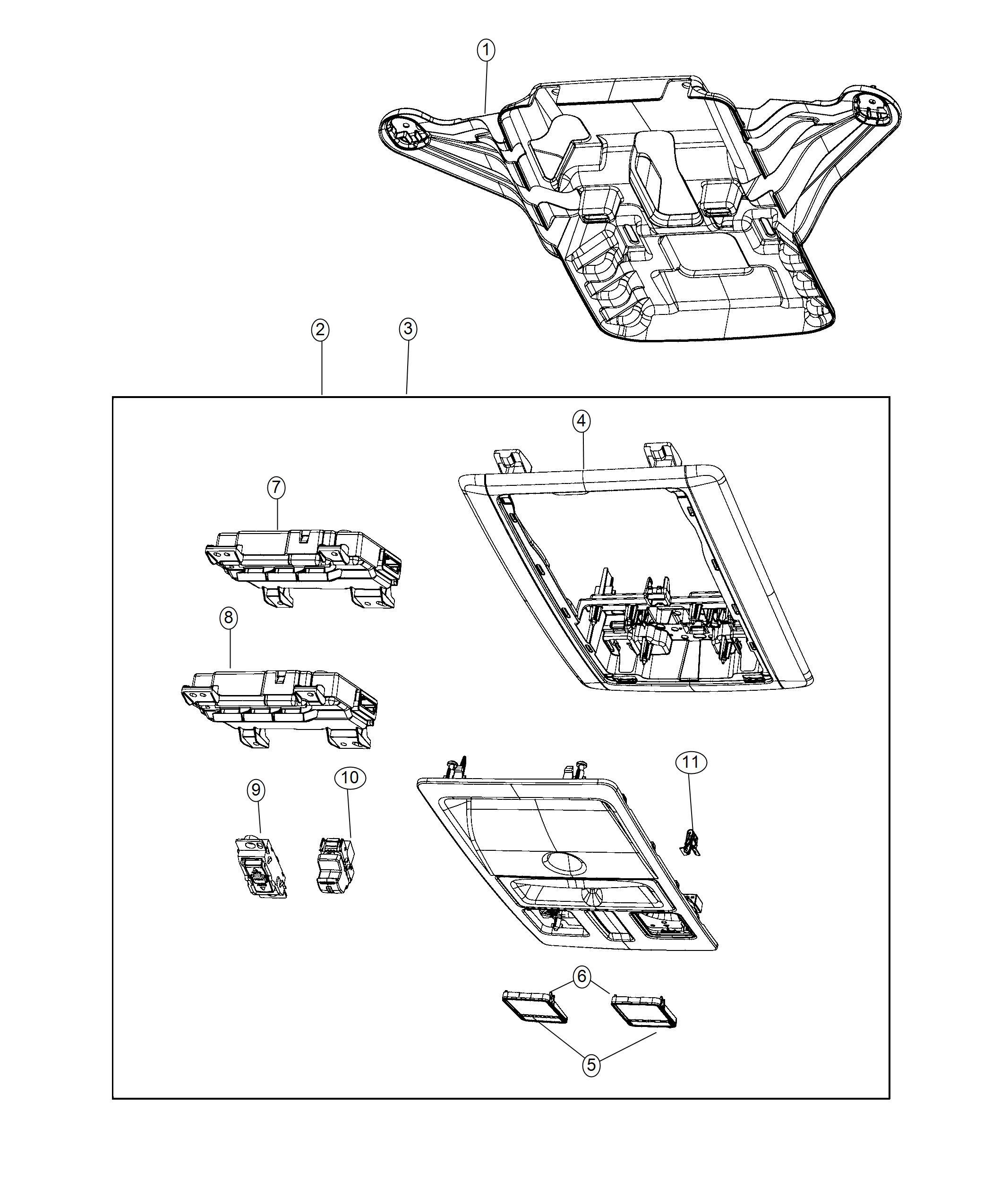 Dodge Ram Bezel Overhead Console Export Trim All Trim Codes Color No