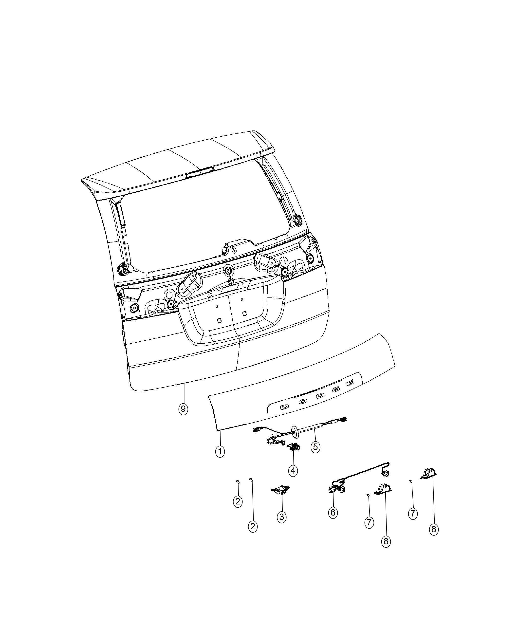 Dodge Grand Caravan Wiring License Lamp Rear Camera