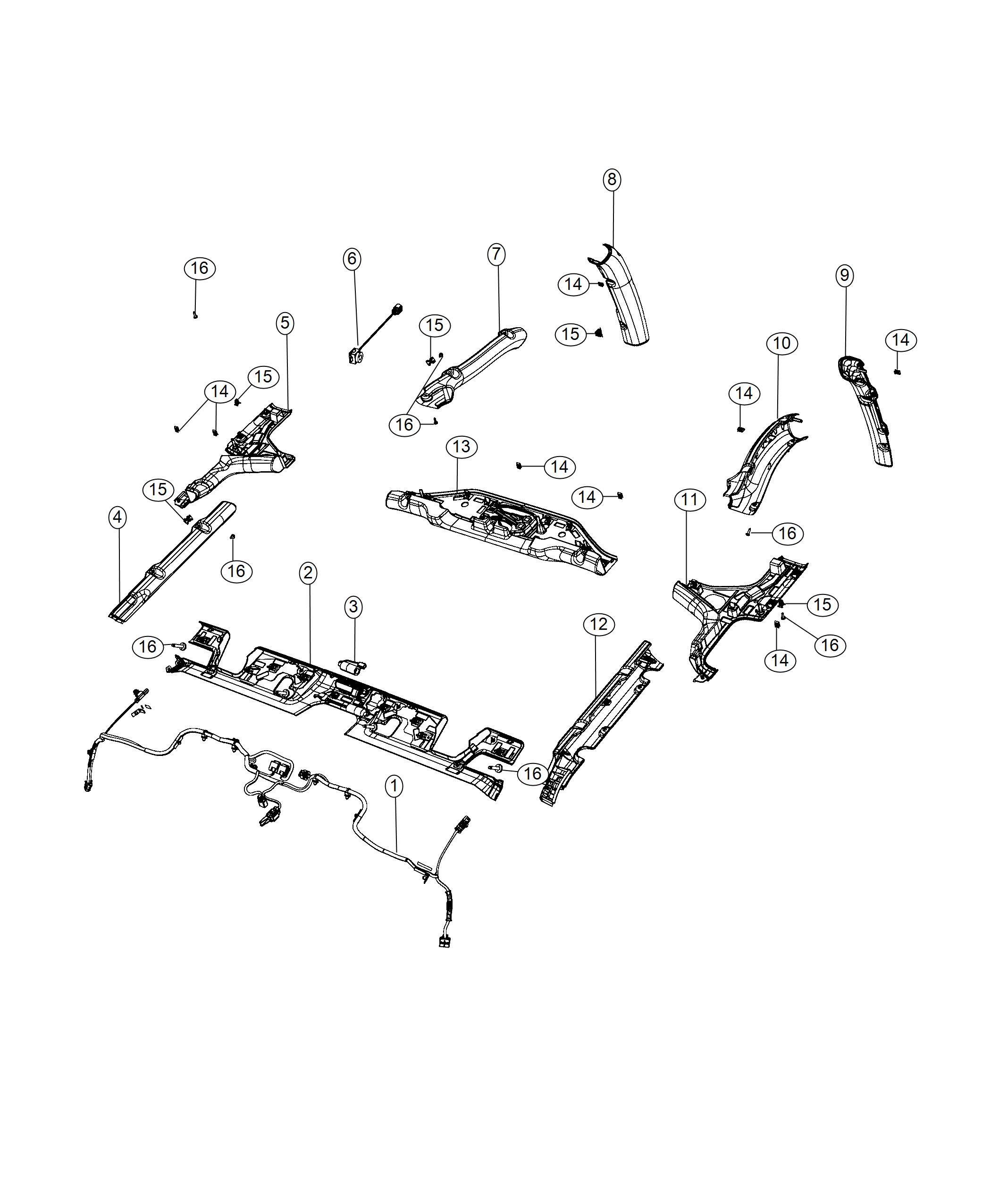 Jeep Wrangler Wiring Jumper Mirror Export Trim No