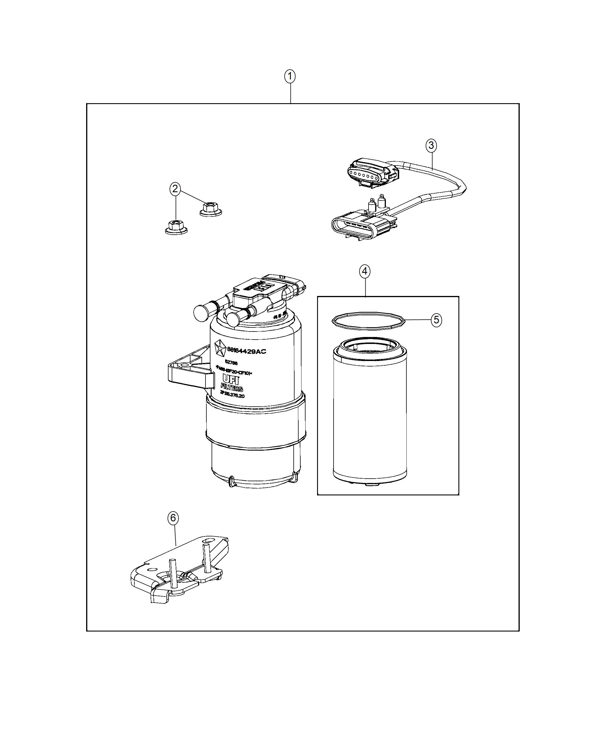Ram Bracket Fuel Filter